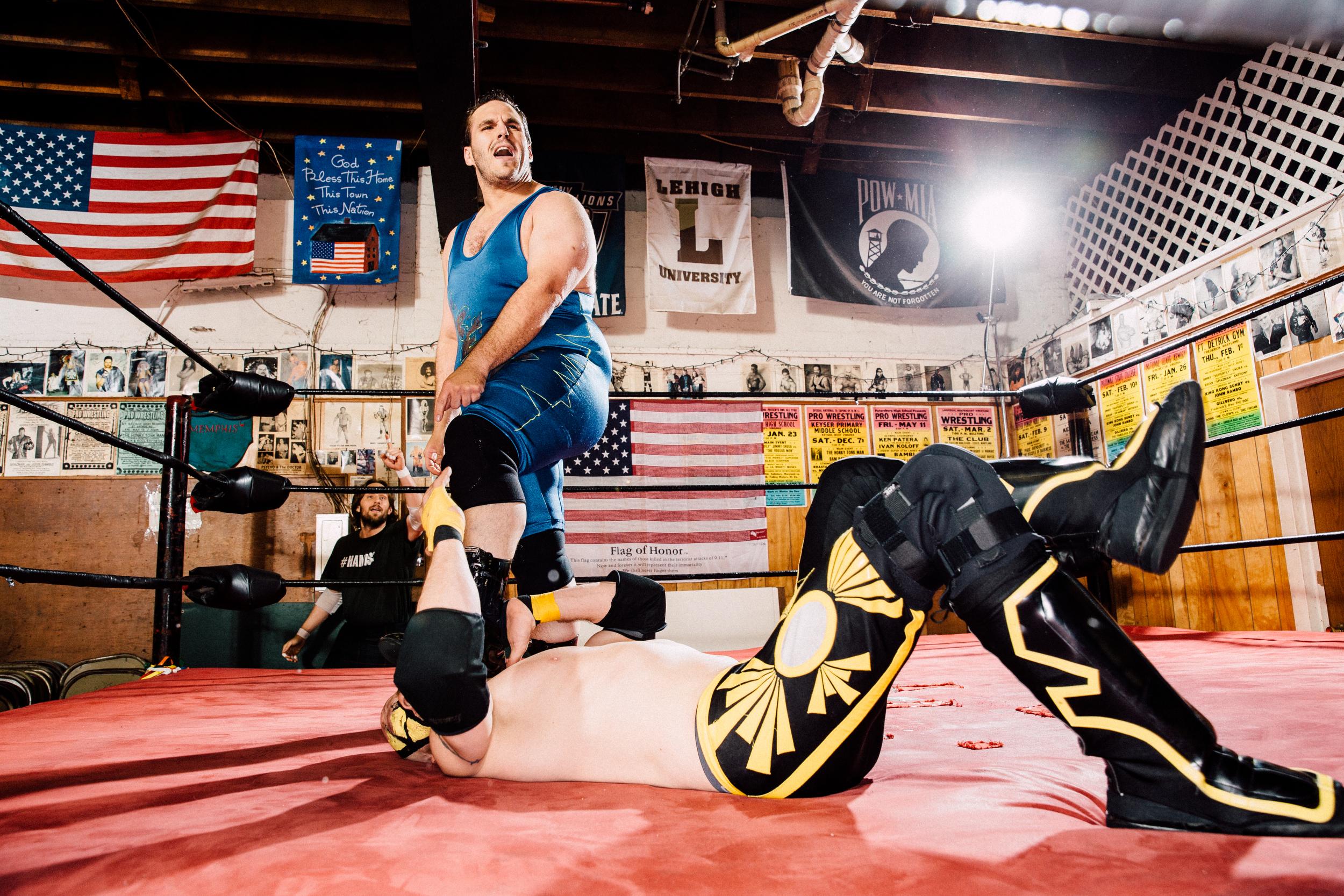 """Albert """"Tremor"""", full-time wrestler"""