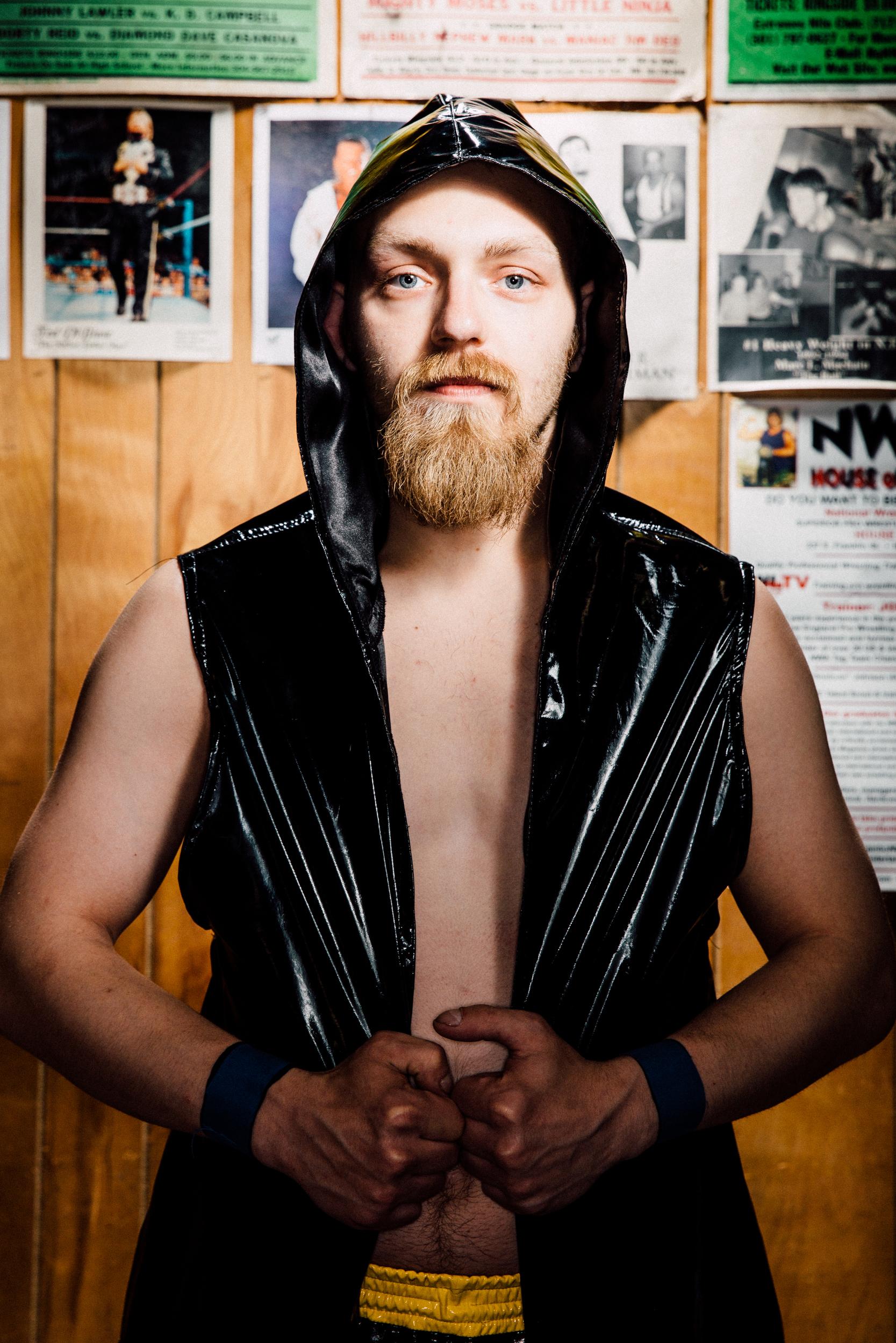 """""""Willie Radical"""" Brad Carroll, cousin of LA Starr, part-time wrestler, full-time meat packer"""