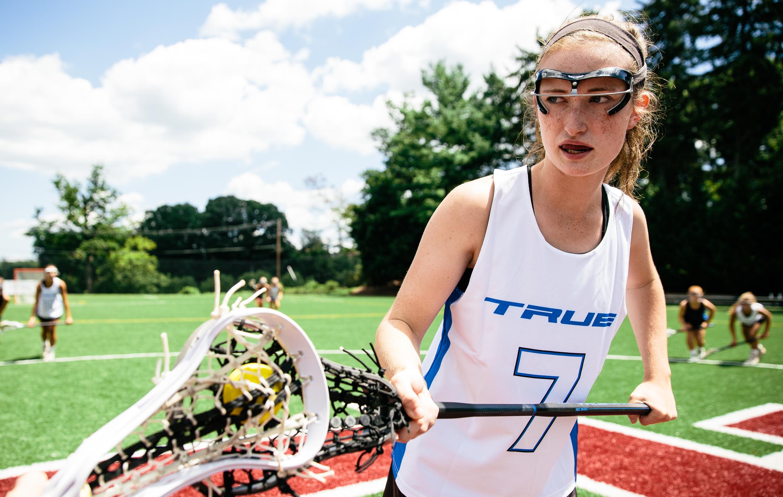 Jul 22, 2015; Baltimore, MD, USA; TRUE Lacrosse brand shoot at Boy's Latin School of Maryland in Baltimore, MD. Girls. Mandatory Credit: Brian Schneider-www.ebrianschneider.com