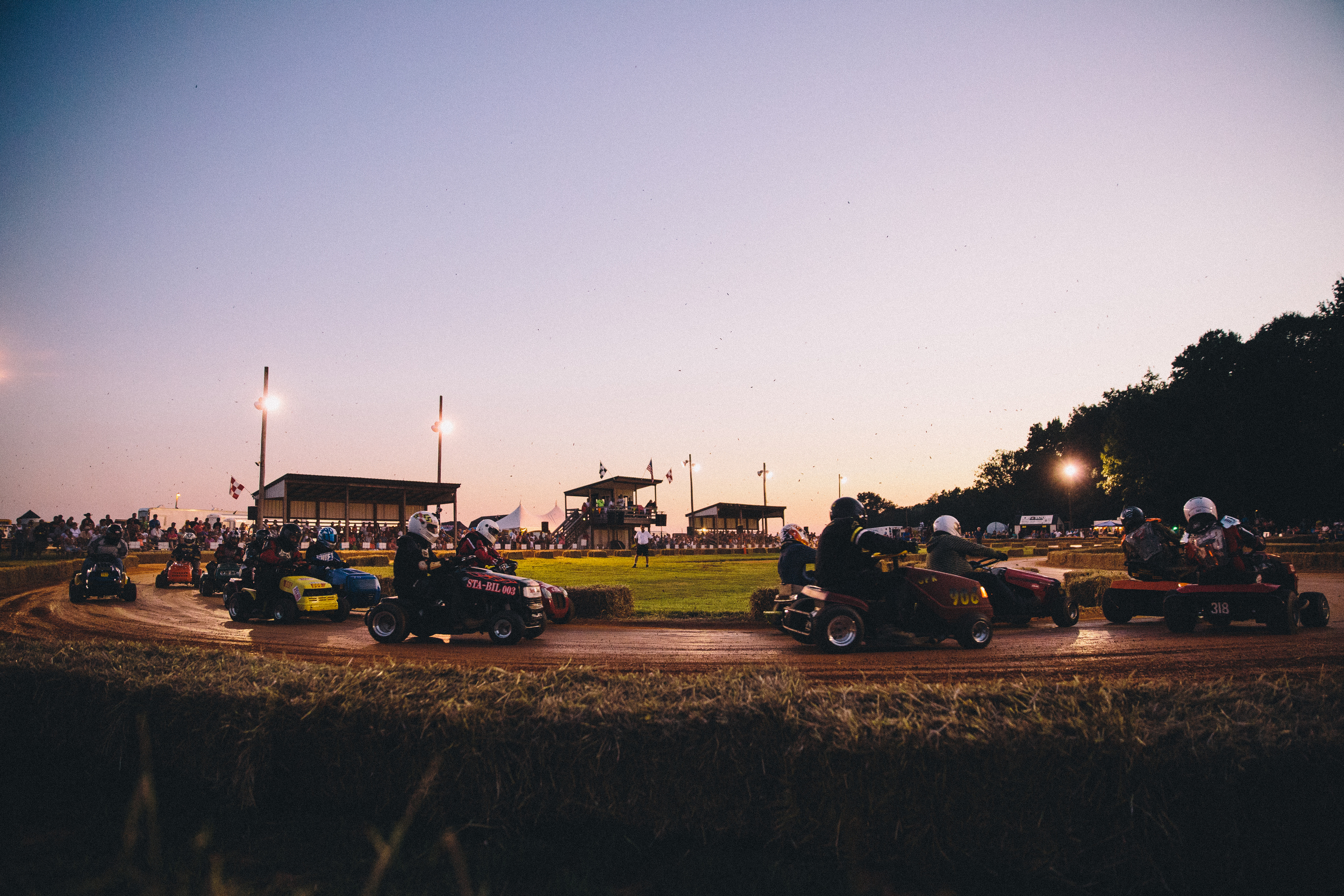 July 31, 2015 and Aug 1, 2015; Clements, MD, USA; Reportage from the STA-BIL National Lawn Mower Racing Series at Bowles Farm in Clements, MD. Racers posed for portraits, before and during practice heats. Racers competed in at least 10 different mower classes on a 700 ft long dirt track. The course is surrounded by cornfields. Mandatory Credit: Brian Schneider-www.ebrianschneider.comInstagram - @ebrianschneiderTwitter - @brian_schneiderFacebook - Facebook.com/ebrianschneider or Facebook.com/brianschneiderphotography