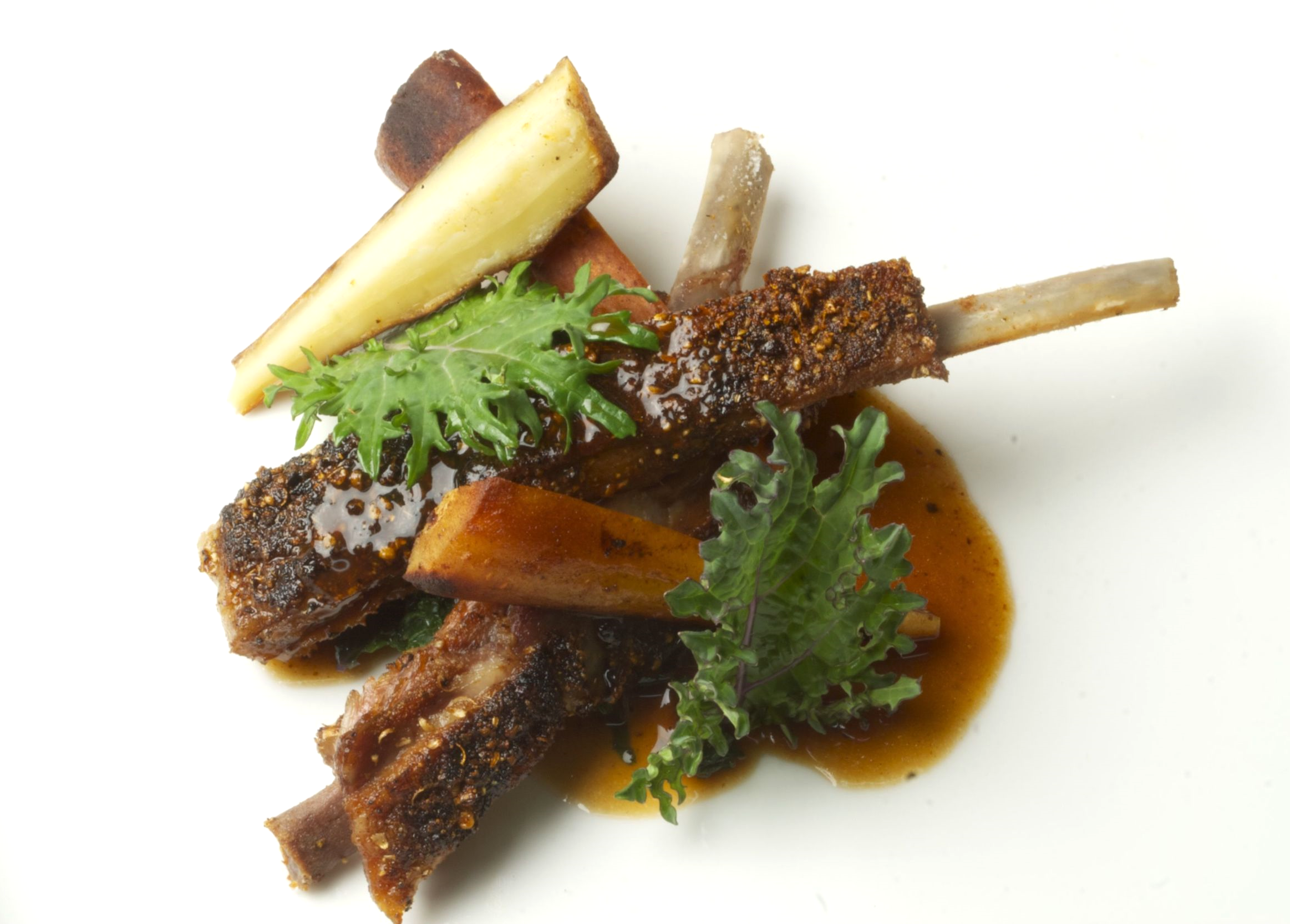 spiced boar spare ribs