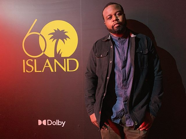 Thanks @dolbylabs for having me spin.  That surround sound & lighting setup 🤯 #Island60 #DolbyMusic