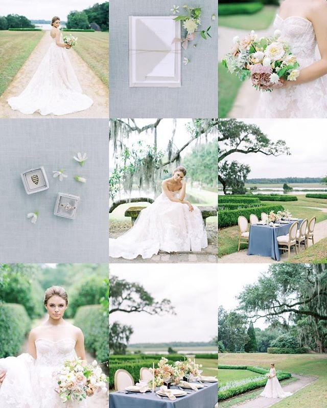 A few digital sneaks from my adventures with @kenzievictory @kateasireflowers and @sabrinaclaudinesimpson yesterday at @middletonplaceweddings . . . Visit my story to read about how this shoot almost didn't happen and God's test of faith ✨😅.