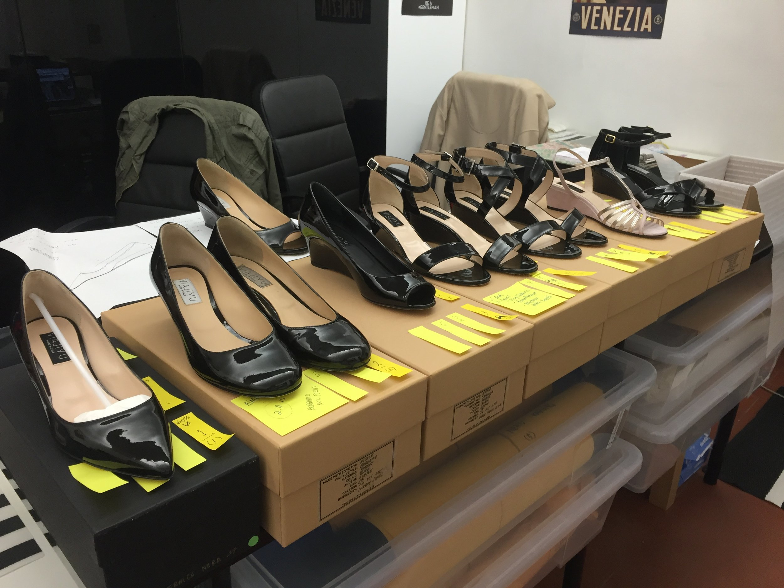 Above are the first prototypes of the sandal variations I designed for Viajiyu. After deciding upon which prototypes we liked best, we narrowed the styles down to 4 sandals that were then put into production.