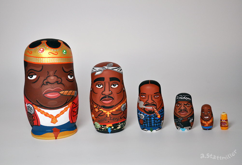 Hip Hop Nesting Dolls