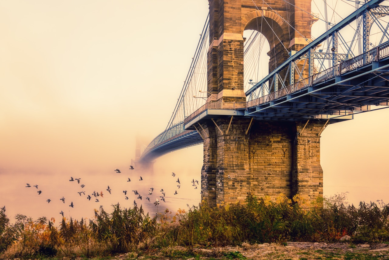 Photo by  @gmsvachphotography at the Roebling Suspension Bridge