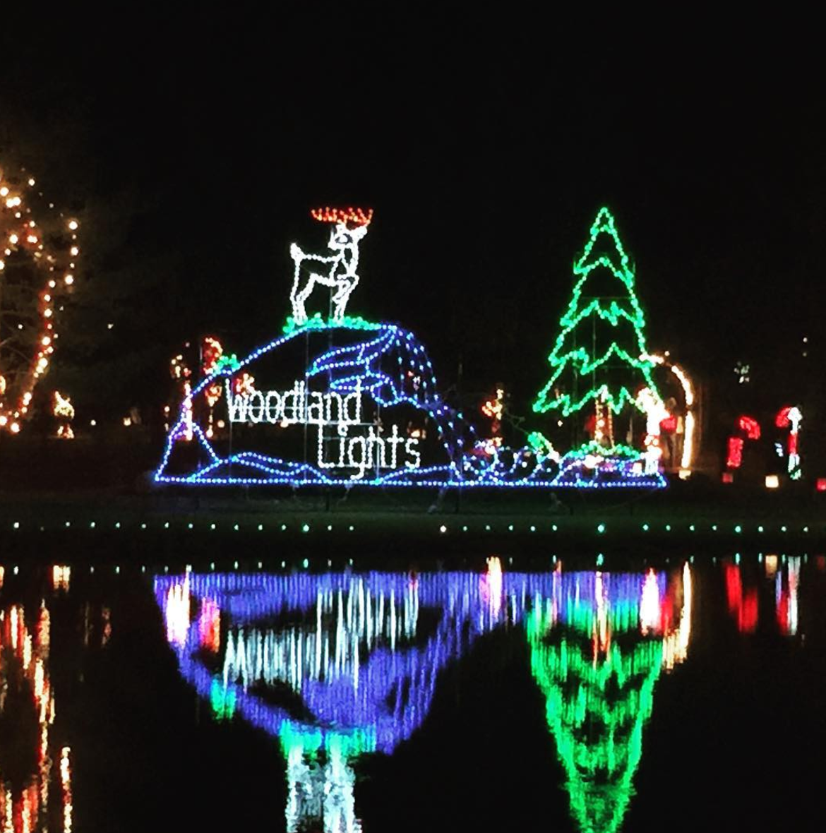 Photo by @onthegoprints at Woodland Lights in Dayton, Ohio