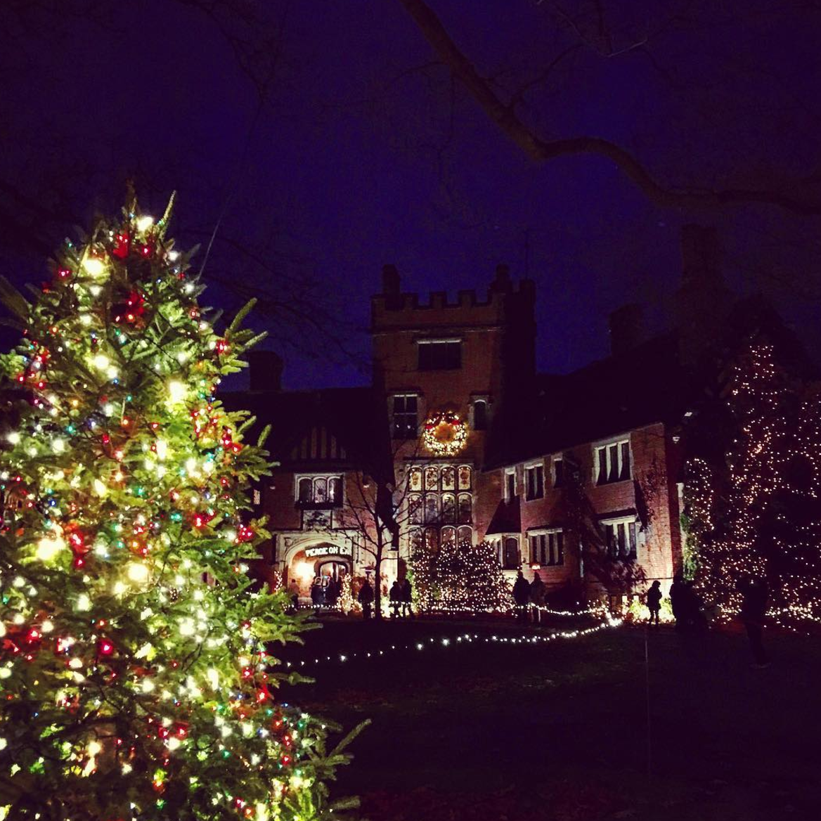 Photo by @megan.conley12 at Deck the Hall at Stan Hywet Hall & Gardens in Akron, Ohio