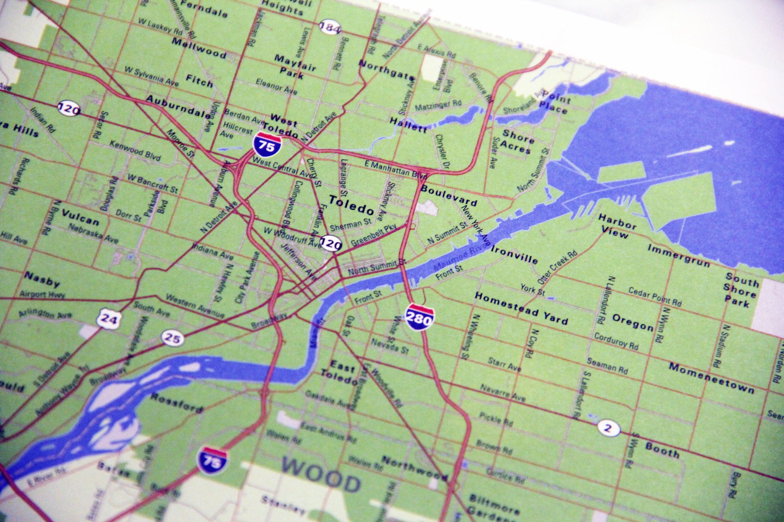 Toledo Ohio Map