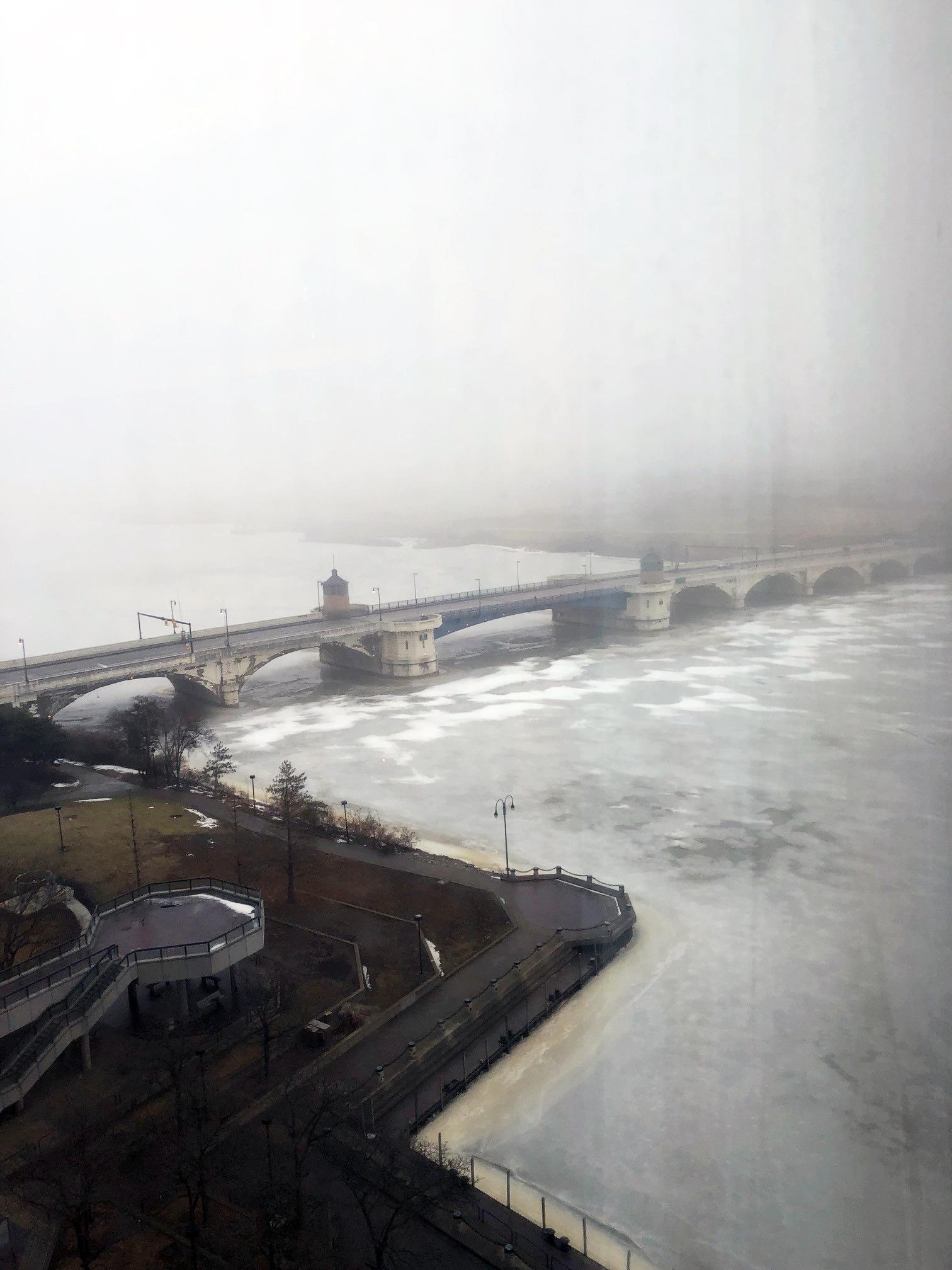 Toledo Renaissance Hotel Foggy Views