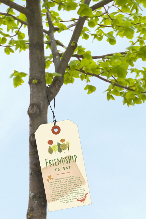 Each tree will get an I.D. tag noting its species, name and date planted.