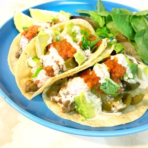 Crock Pot Lentil Tacos