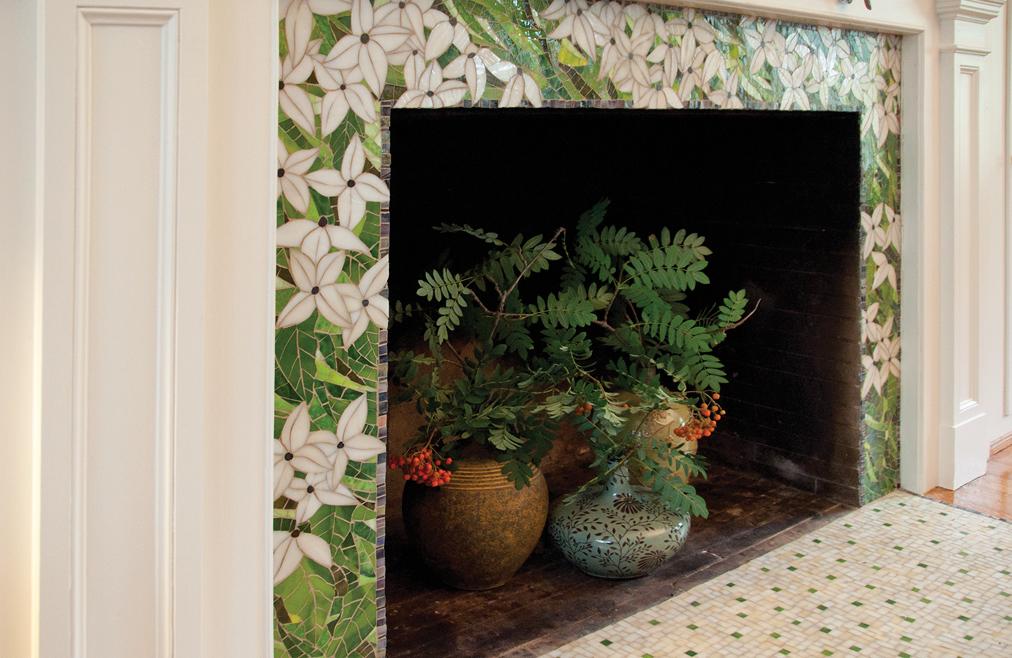 Custom Mosaic Fireplace surround, Buffalo NY