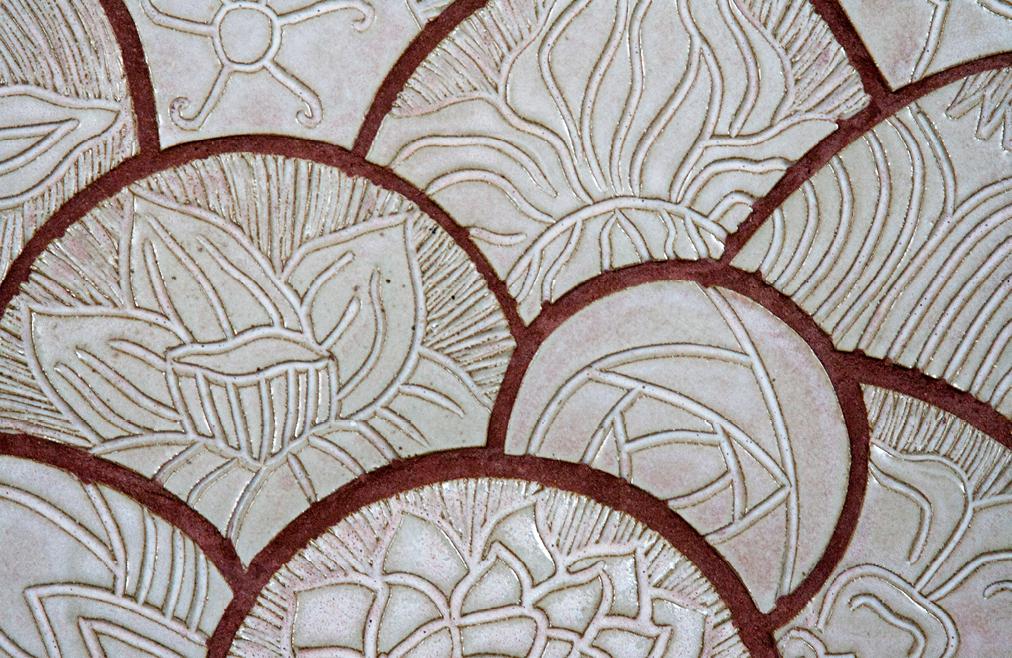The Golden Flower: Carved Tile Mandala