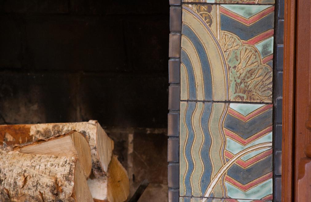 Japanese Art Deco Fireplace Surround