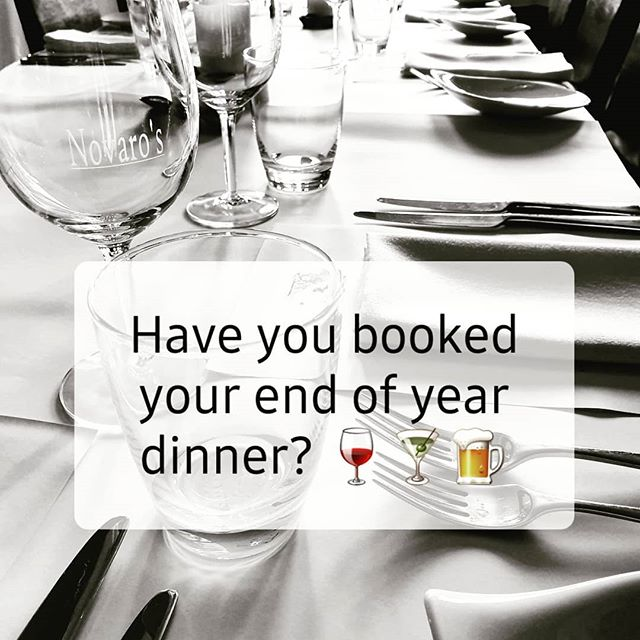 The days are ticking away fast, be sure not to miss out!  We still have room for all your end of year dinners/functions🎄. We can create a menu to cater for all needs.  We also offer lunch time bookings for groups of 15+ Call us on 63345589 or email tyllerandkath@novaros.com
