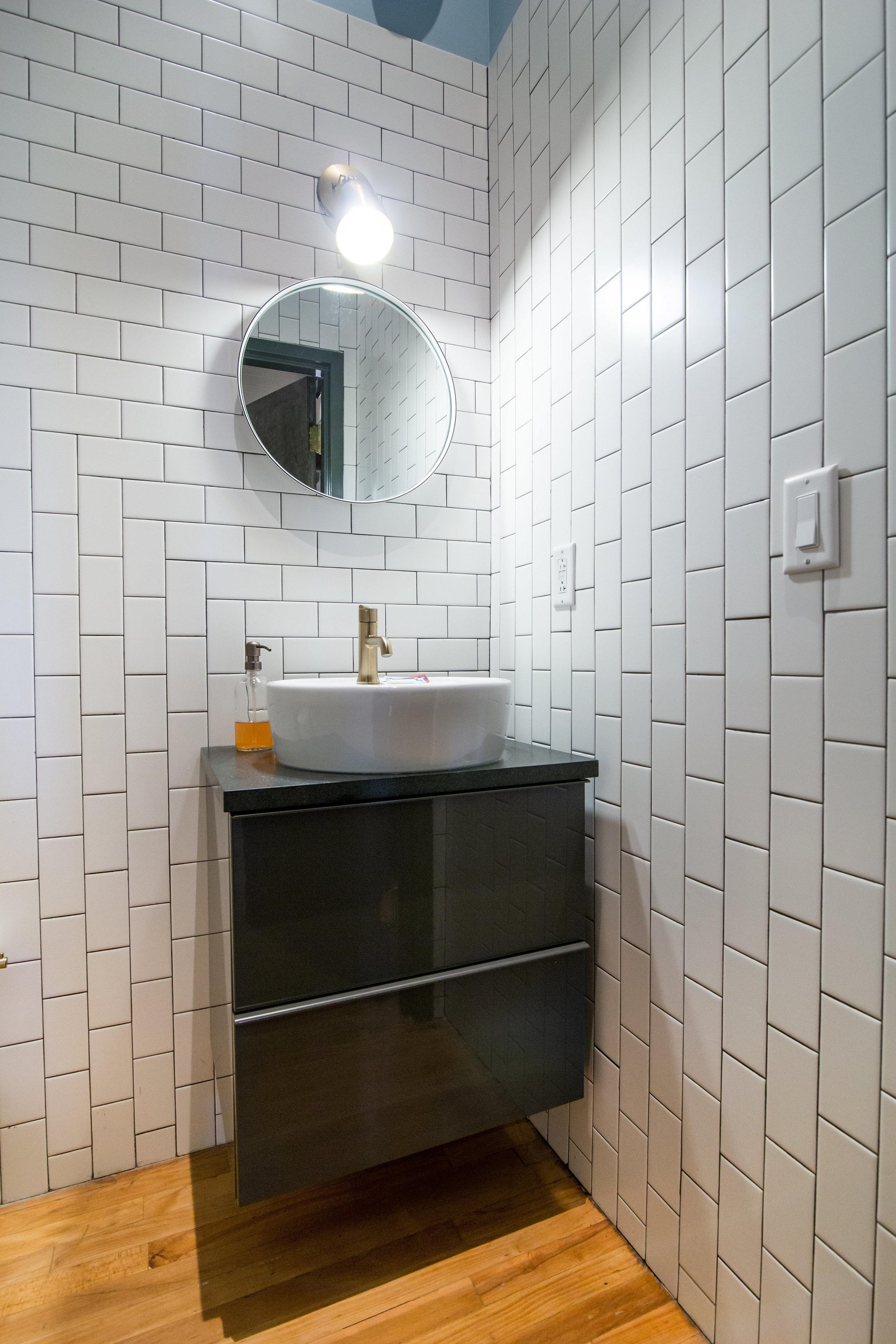 1st floor half bath vanity