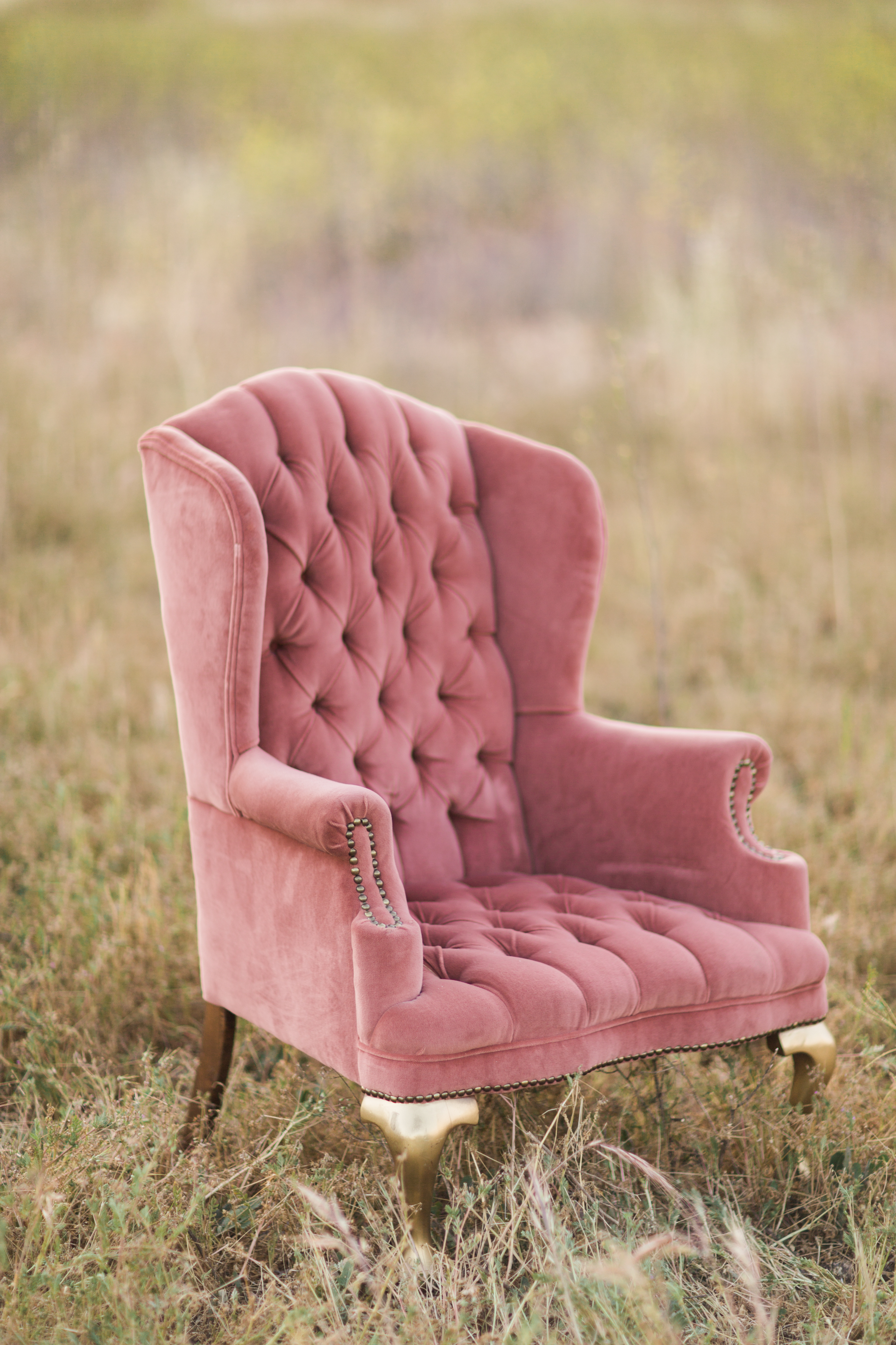 Tufted Pink Chair - (1)