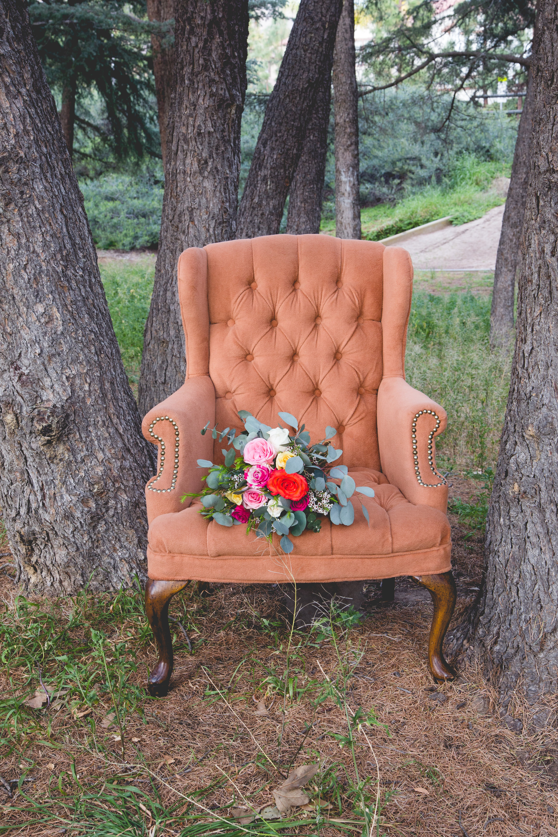 Nutmeg Tufted Chair - (2)
