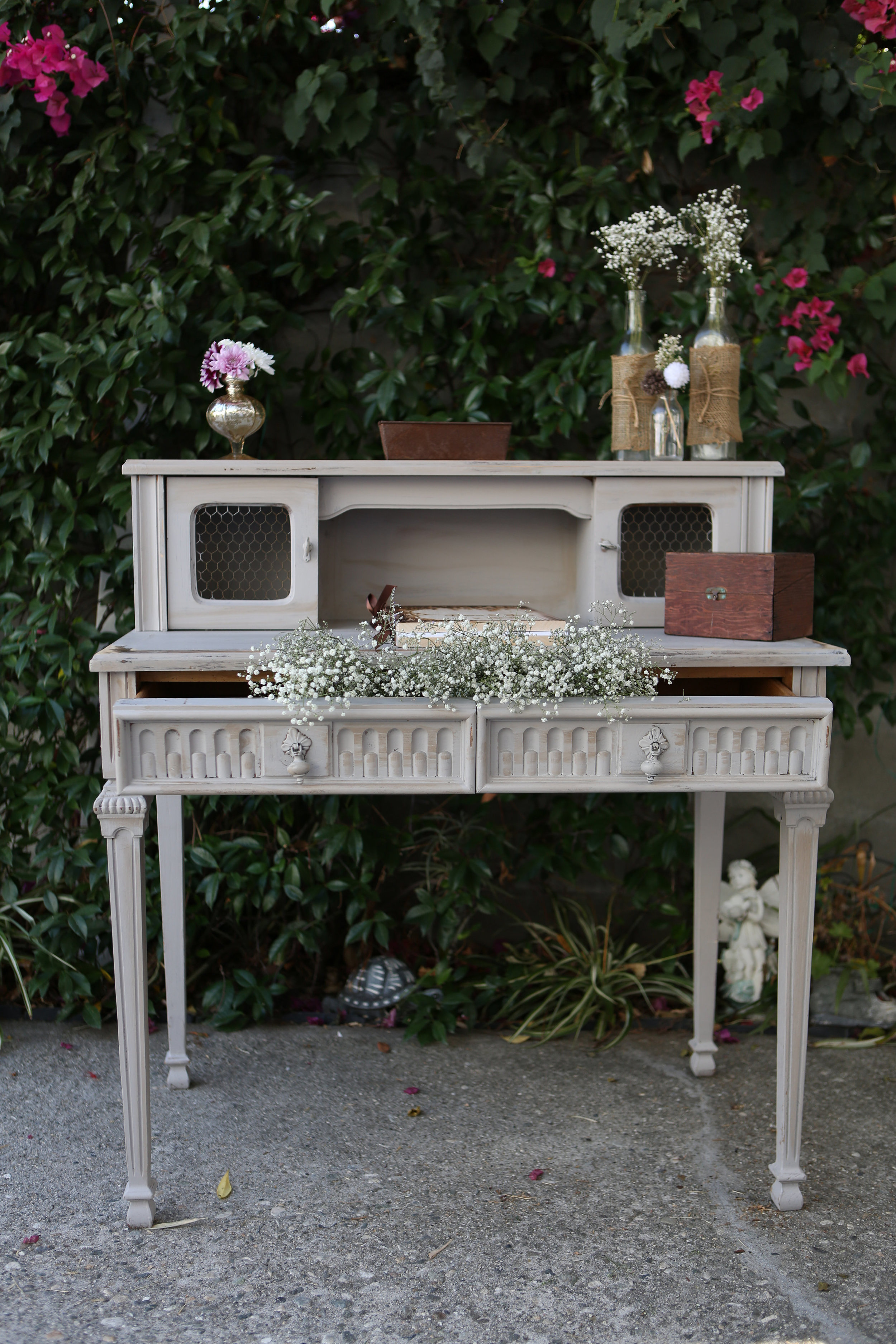 Gray Tiered Table - (1)