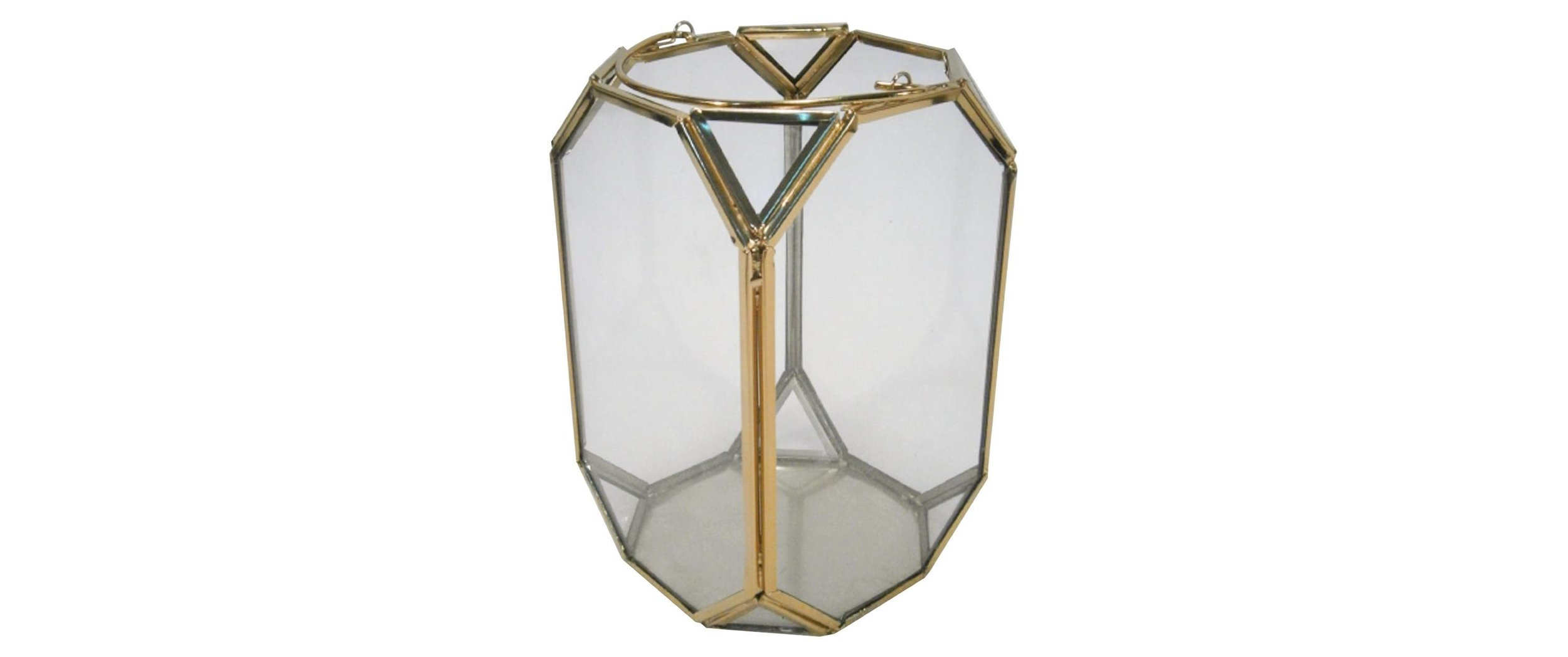 Candleholder Gold Glass Small and Large Sizes - (8) each