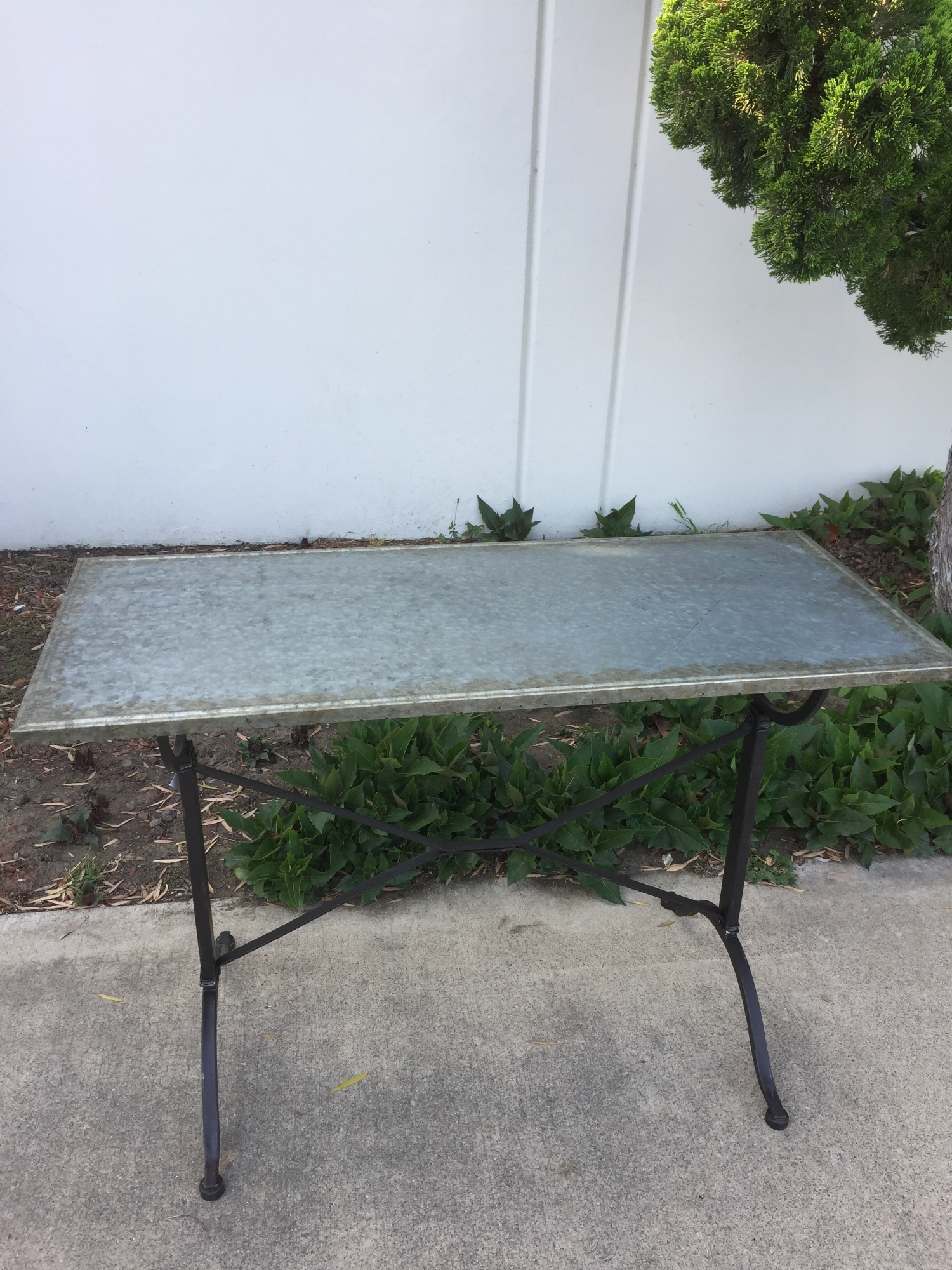 Faux Industrial Table - (1)