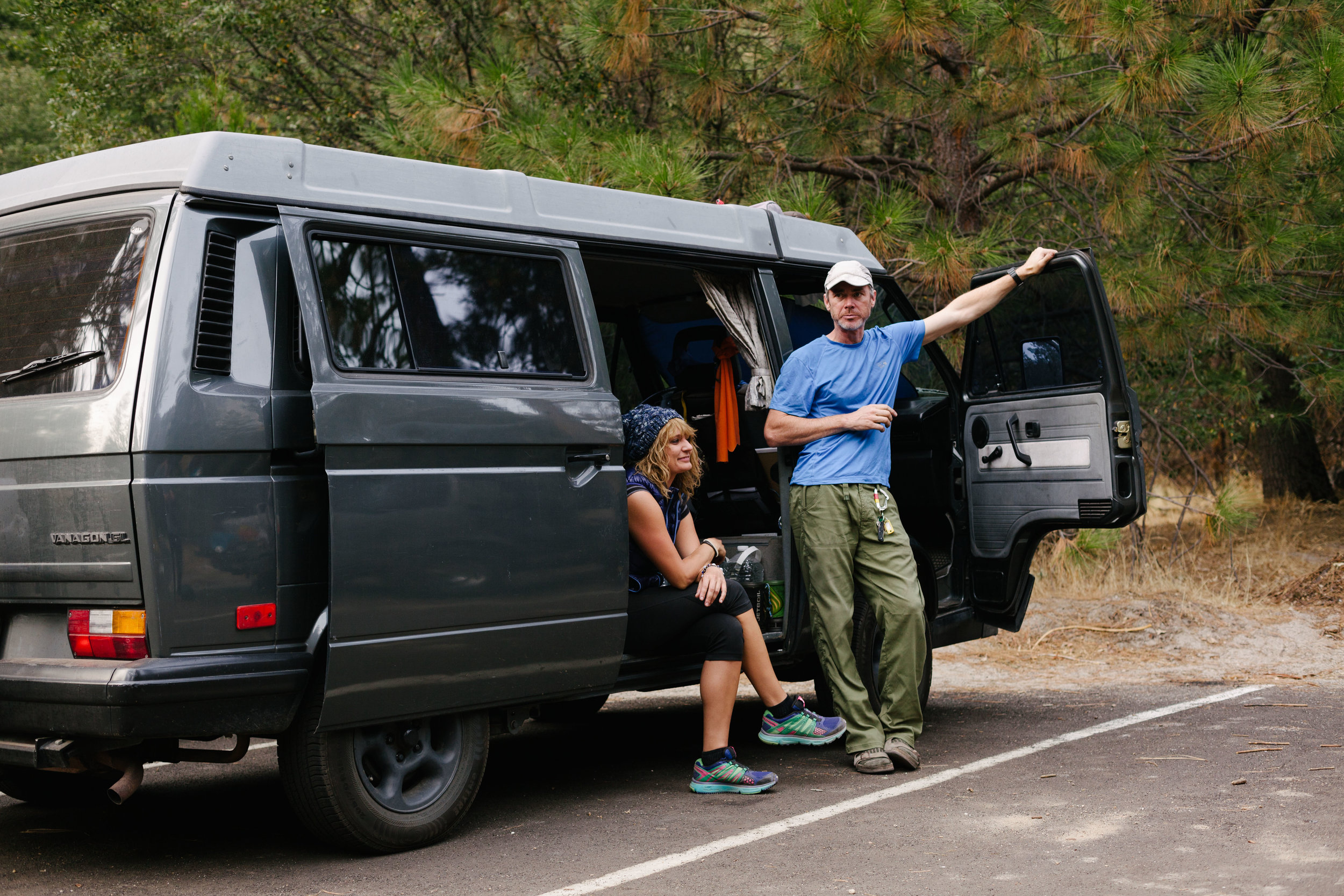 Stanley & his travel partner before a climb in Yosemite