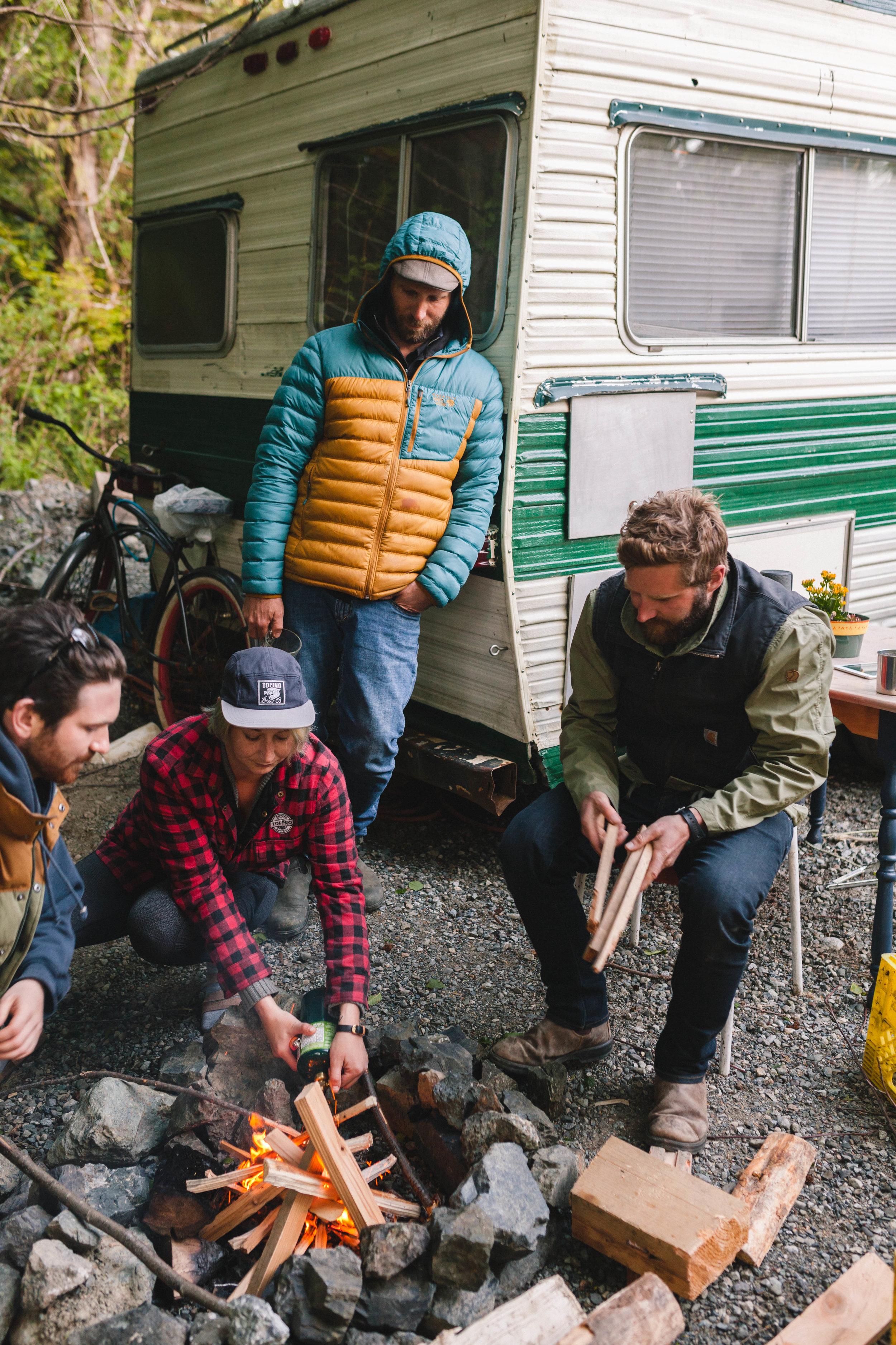 Trailer Park campfire