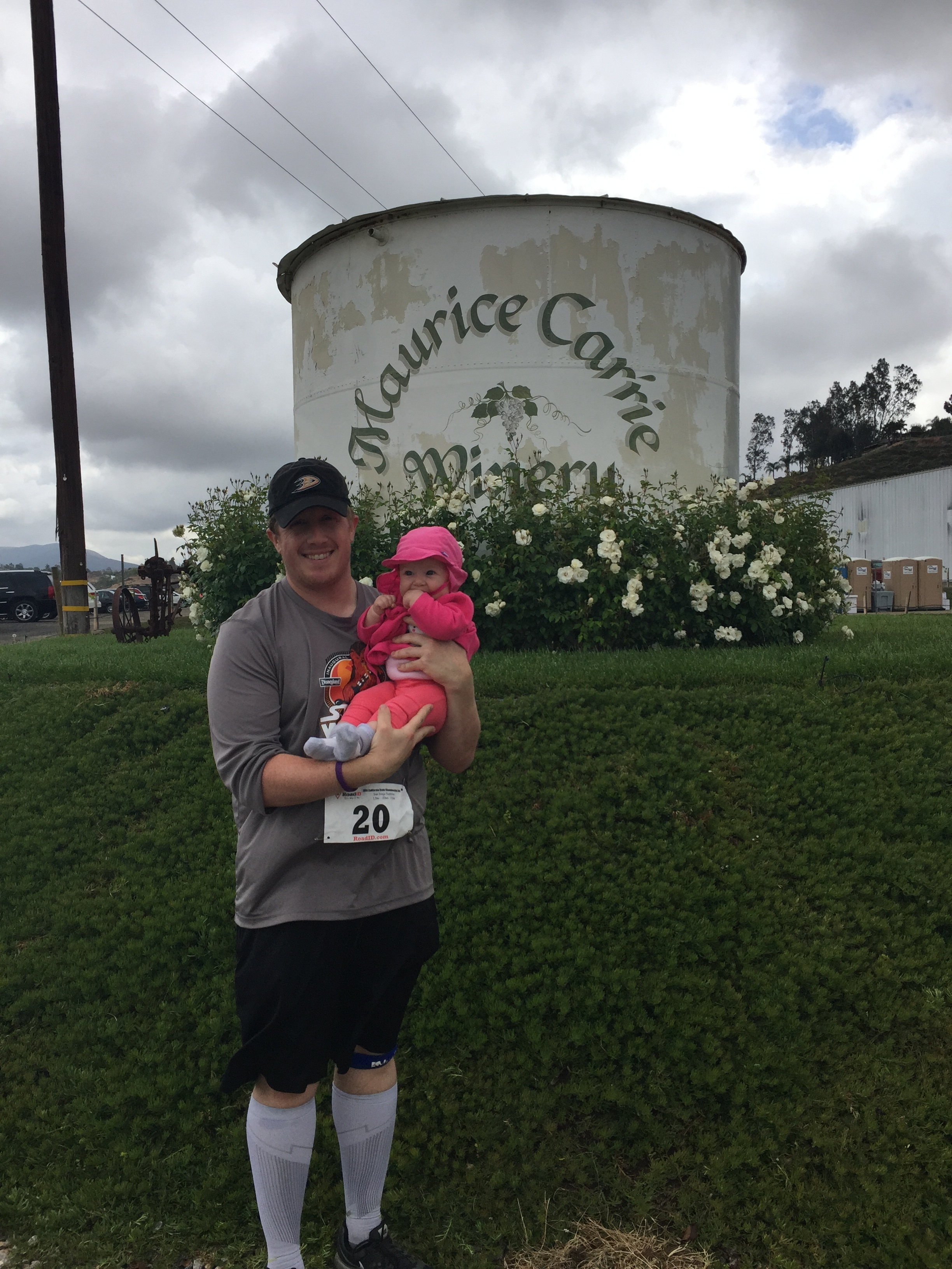 Jon and Rose, after the Race Through the Vineyard 10k