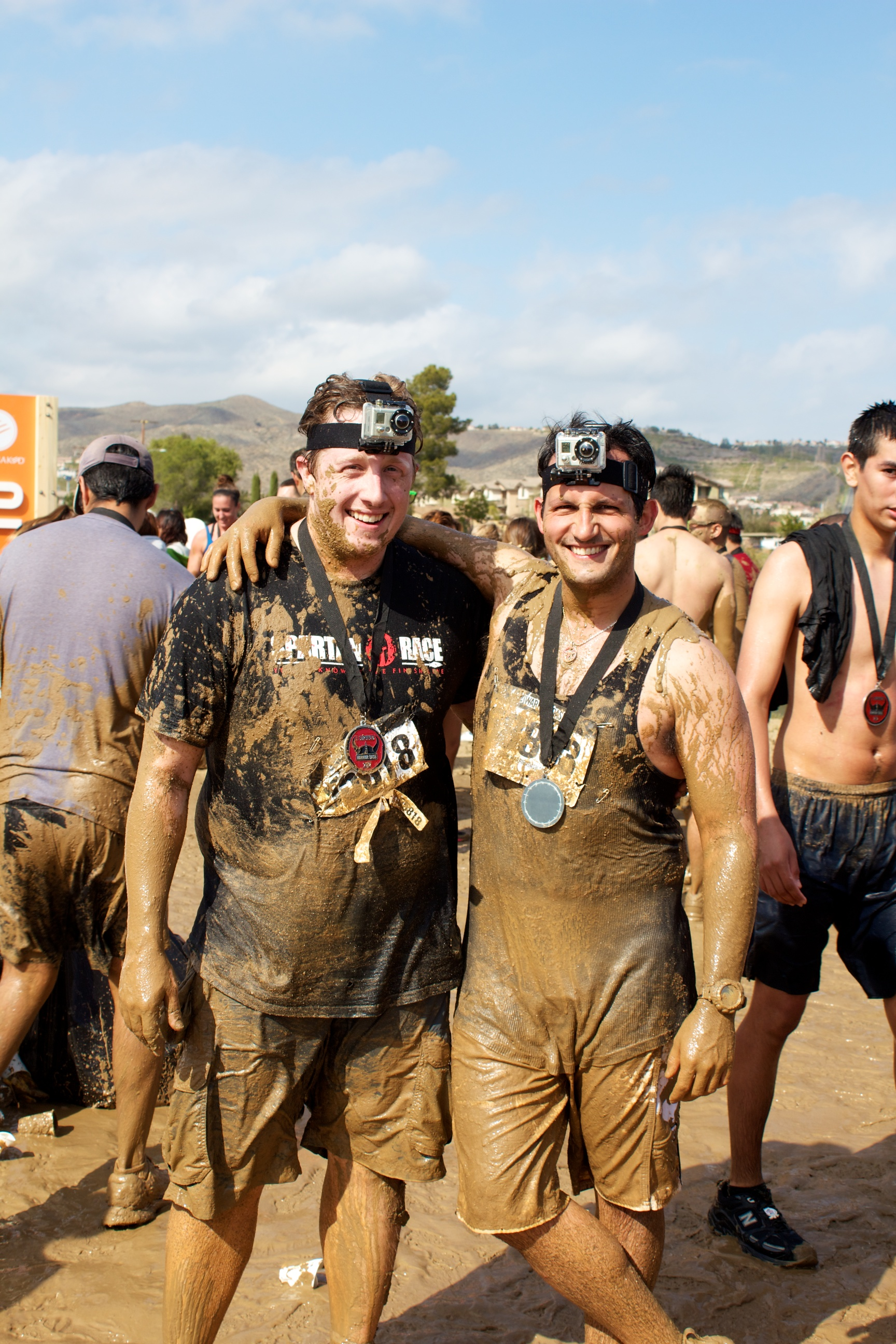 Benny and I after a Warrior Dash event in 2012