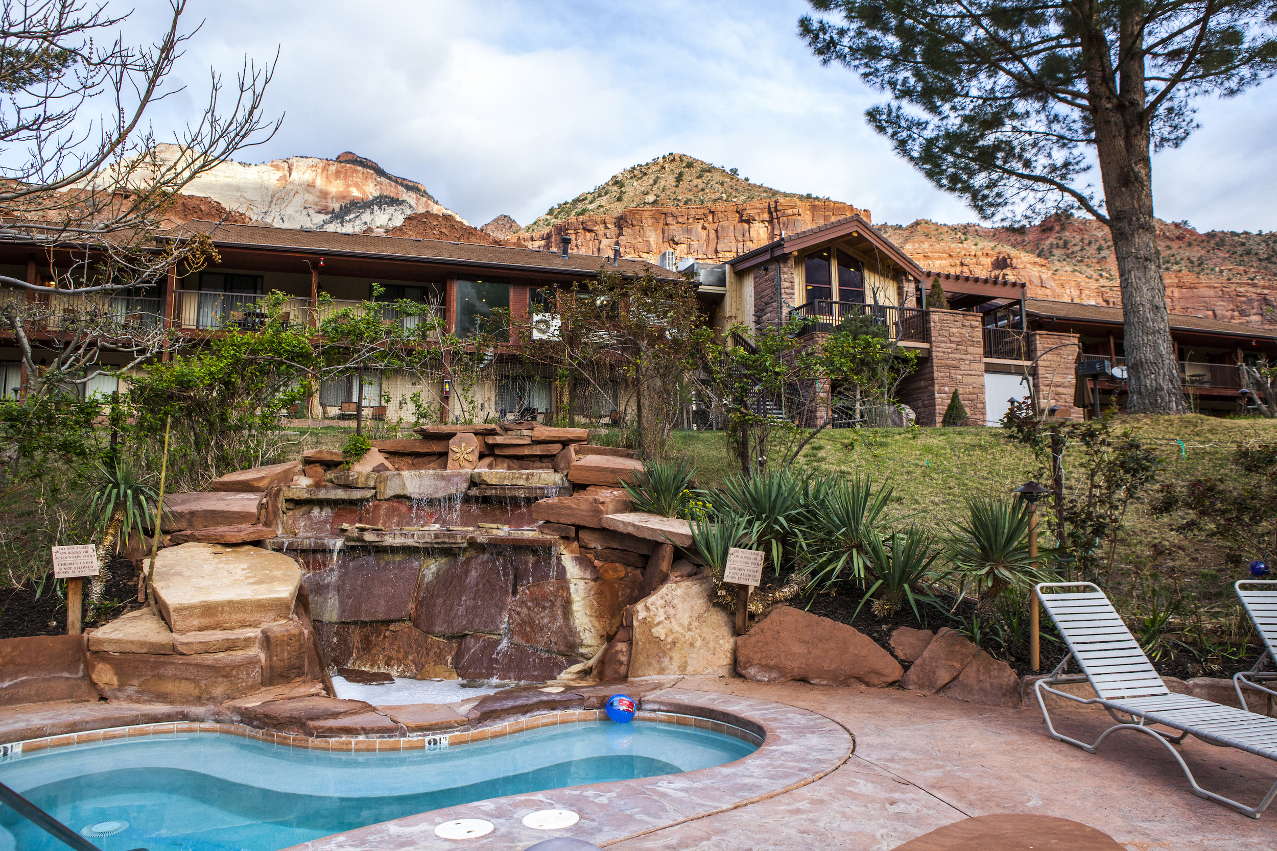 Multiple jacuzzi's and heated pools were perfect for warm days and cold nights.