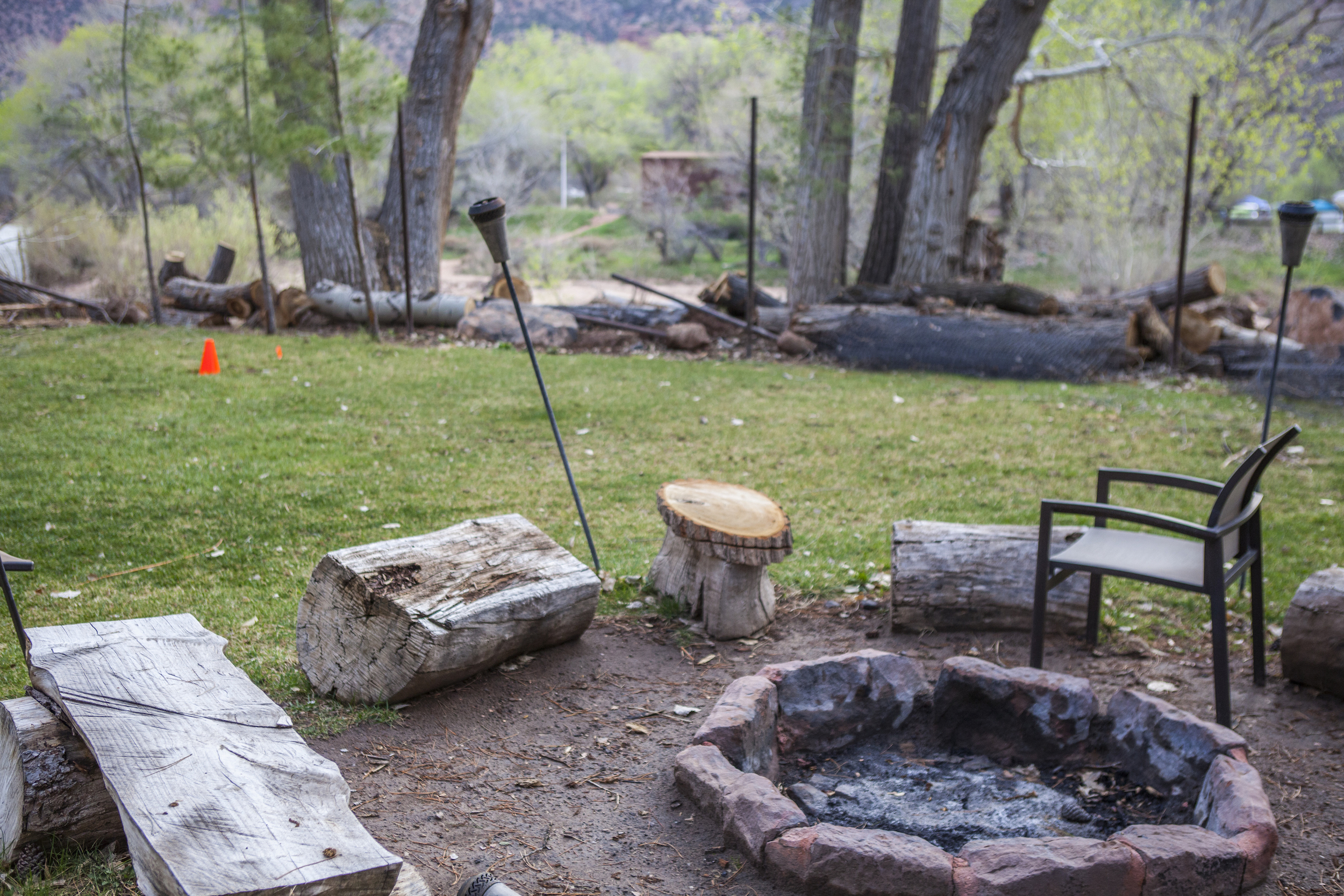 You can get firewood from the staff and have your own s'more party day or night, right on the river.