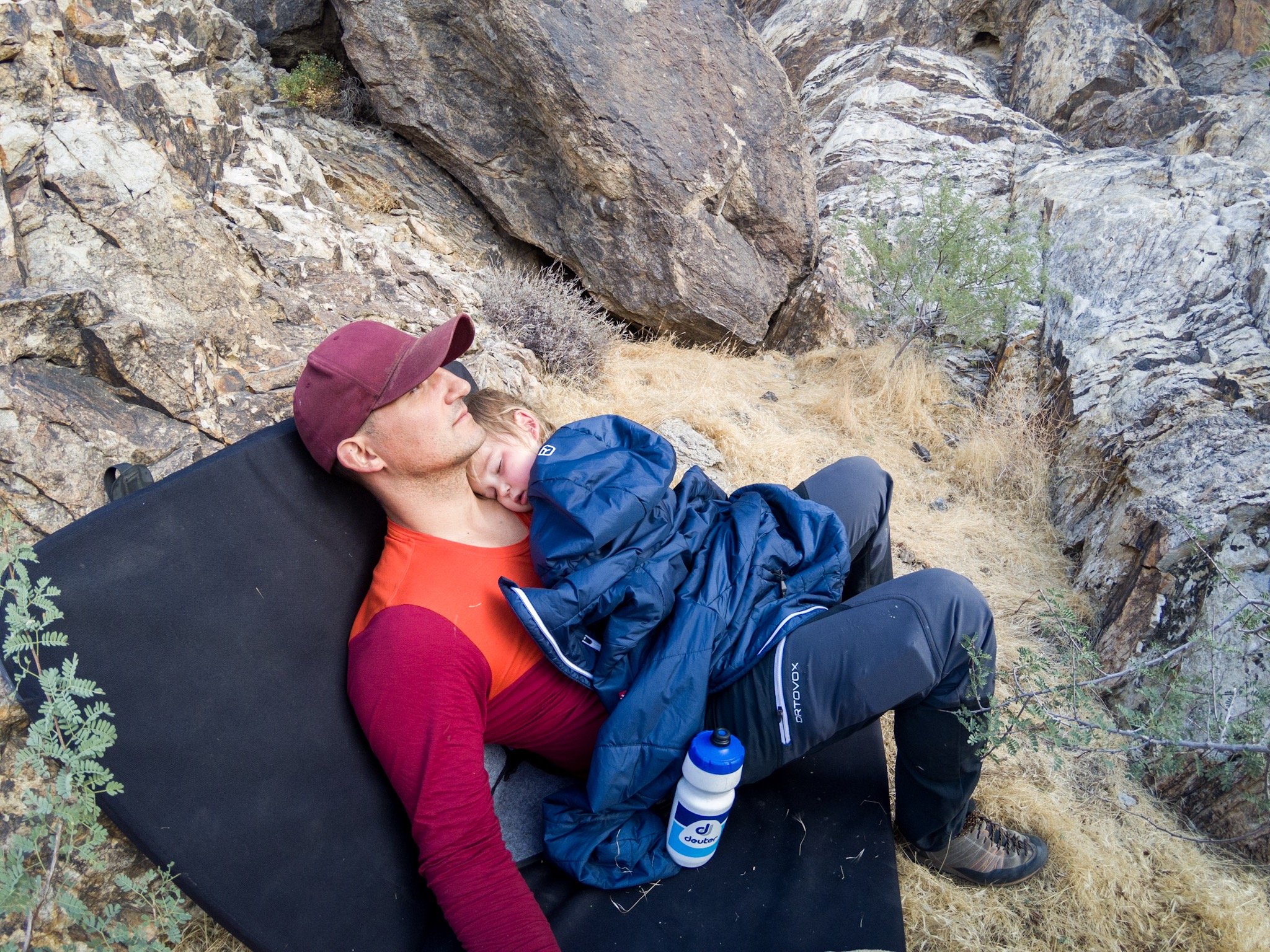 Nap time at the crag.