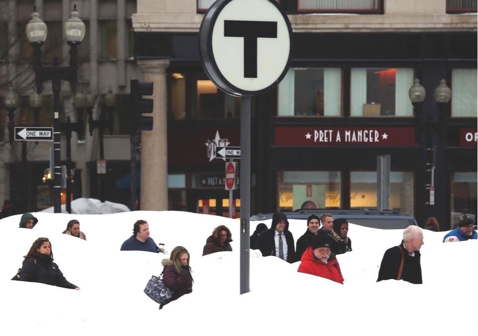 South Station Commuters, February 2015 (Photo Credit: Jessica Rinaldi, Boston Globe)