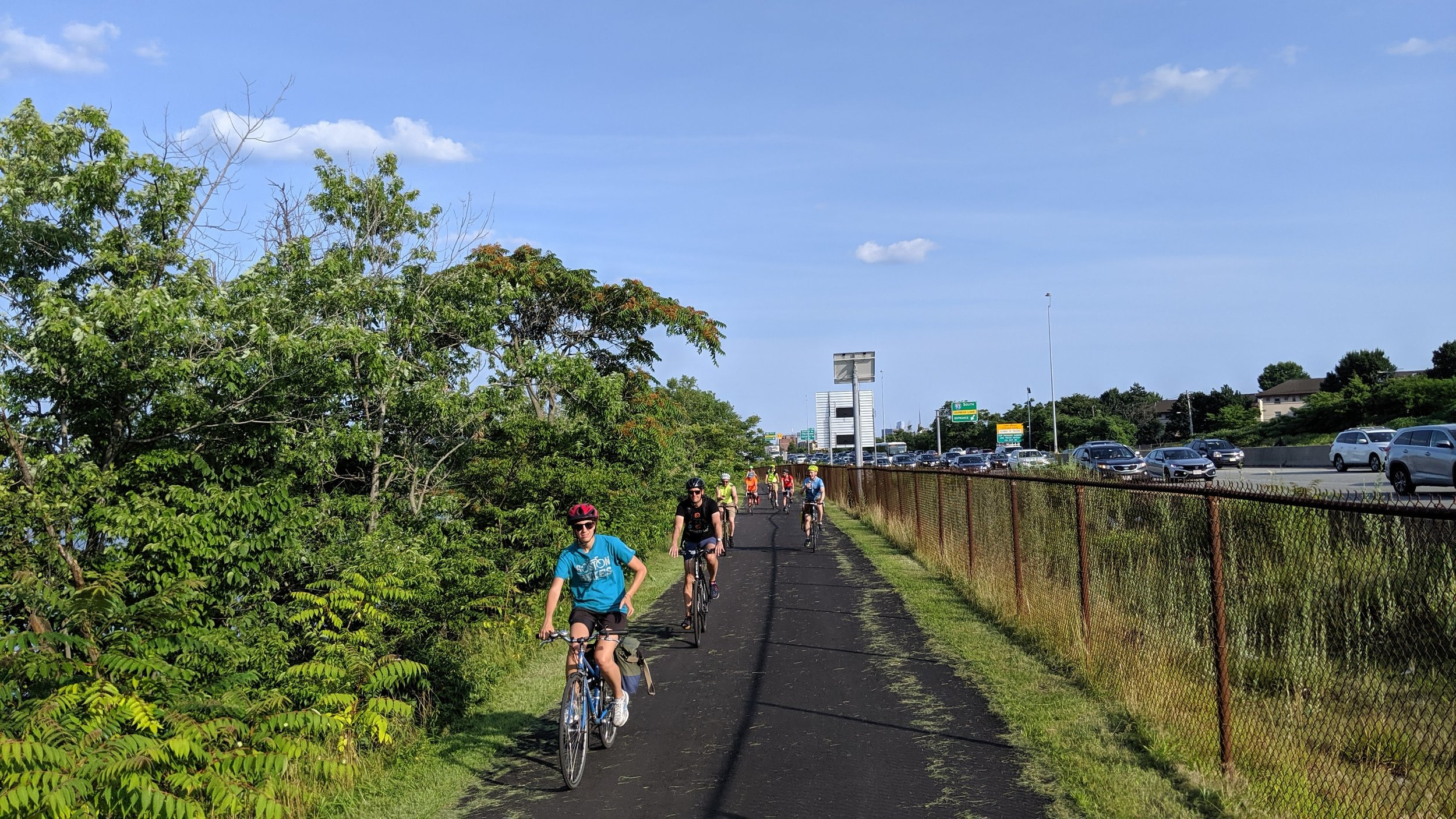 You can bike from  Paddle Boston - Charles River Canoe & Kayak 's Blessing of the Bay boathouse to Macdonald Park. The path is newly paved thanks to MA DCR. - Somerville