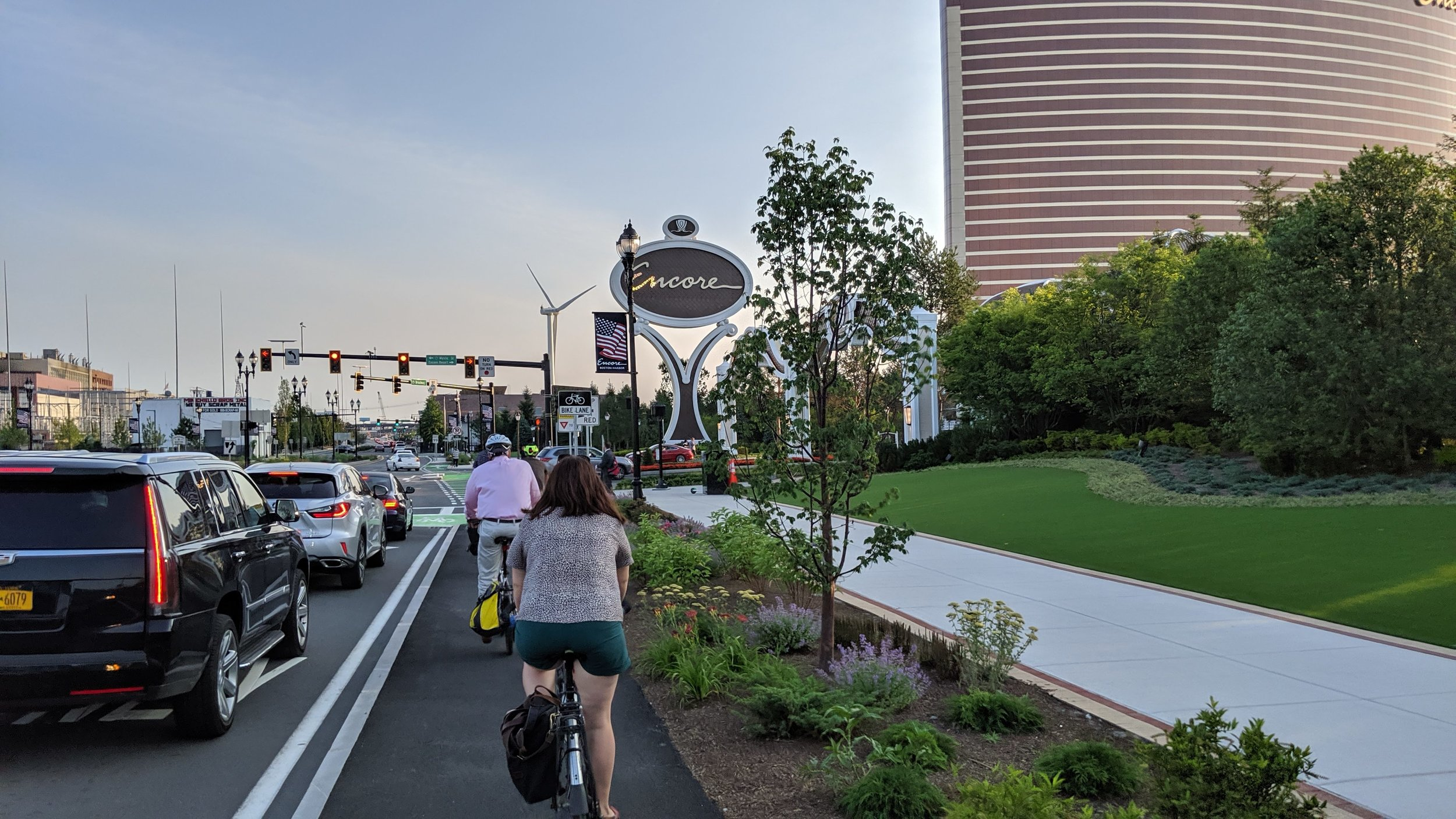 Check out the new shared use path along Broadway in Everett, leading to  Encore Boston Harbor . - Everett