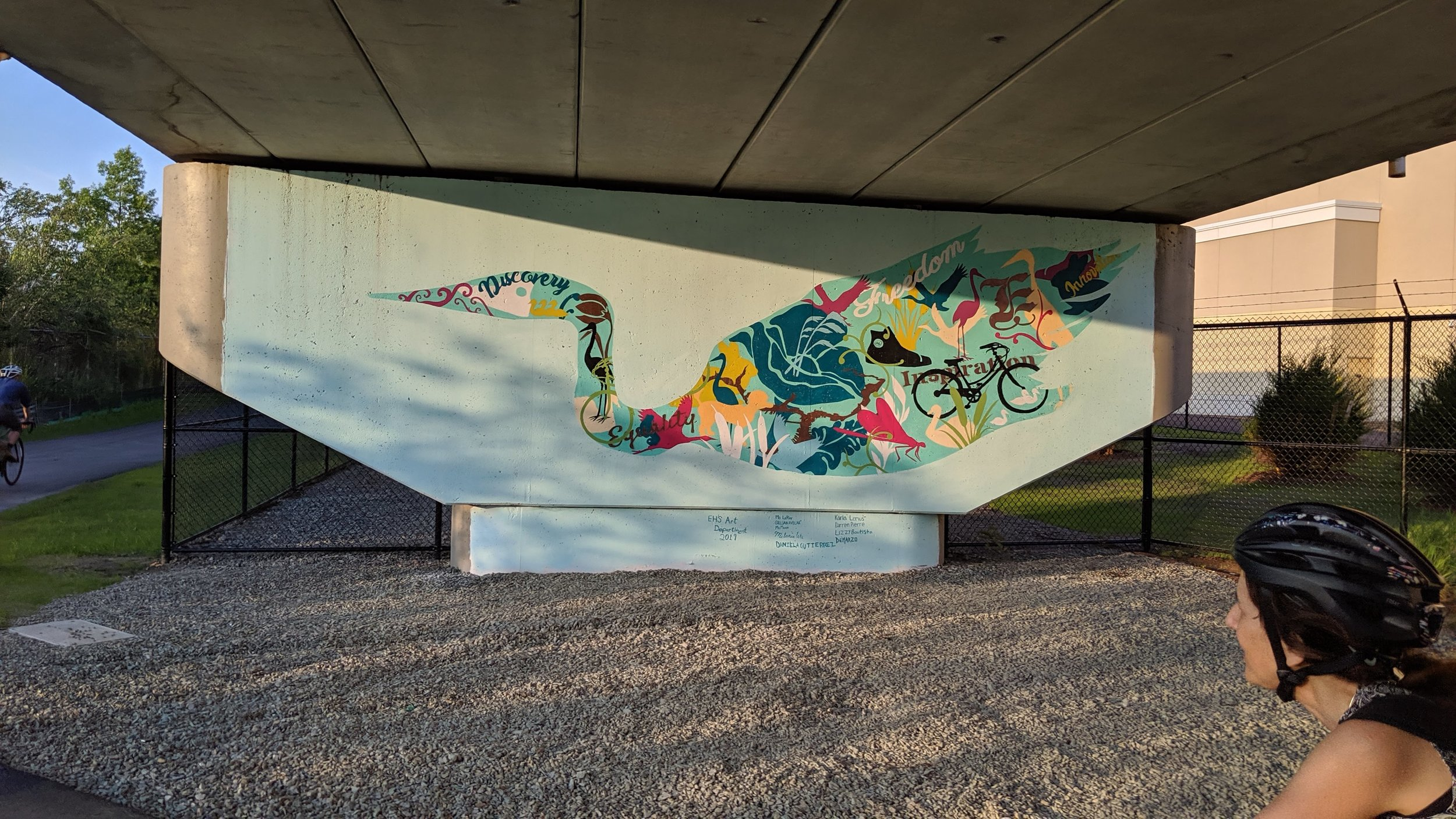 High school students painted this public art piece on the new Gateway Park Connector path. - Everett