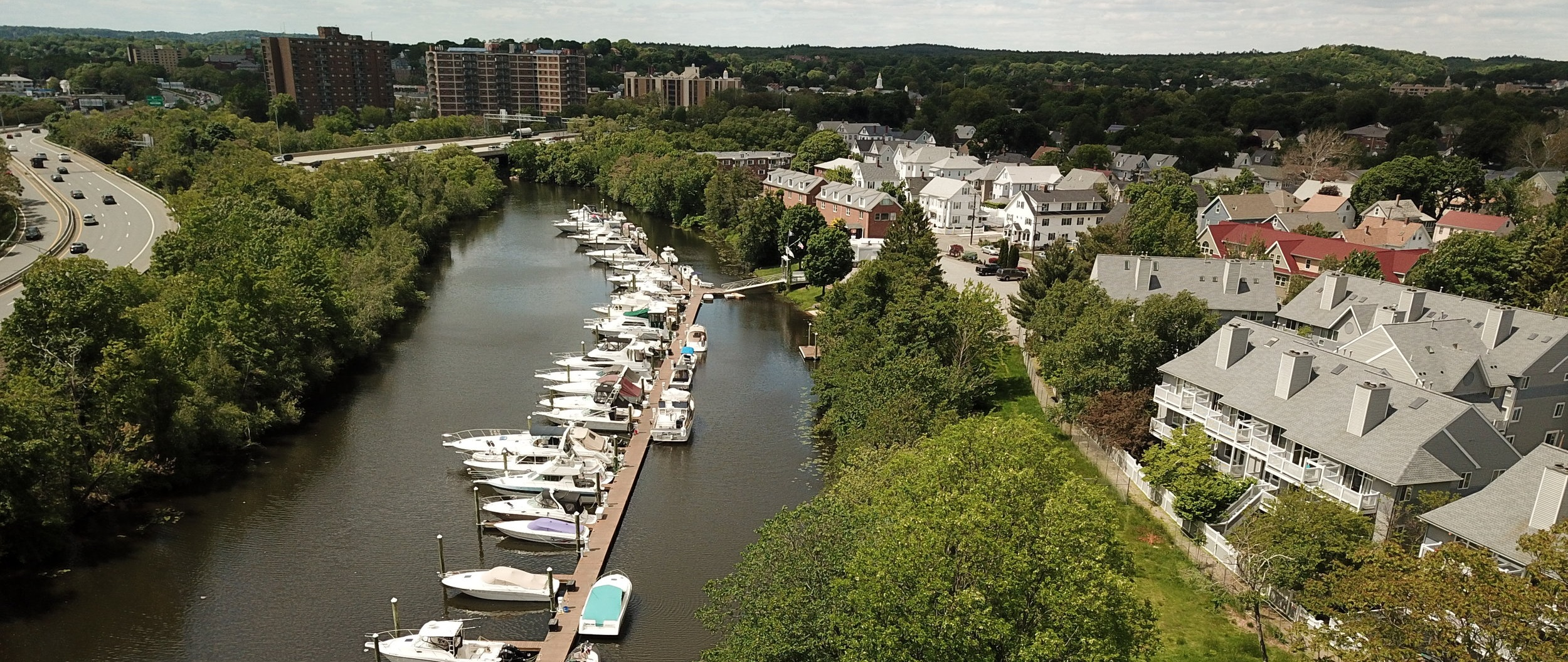 The Clippership Connector starts at Riverbend Park and travels along the Mystic River to Medford Square. Photo: Adam Bolonsky.