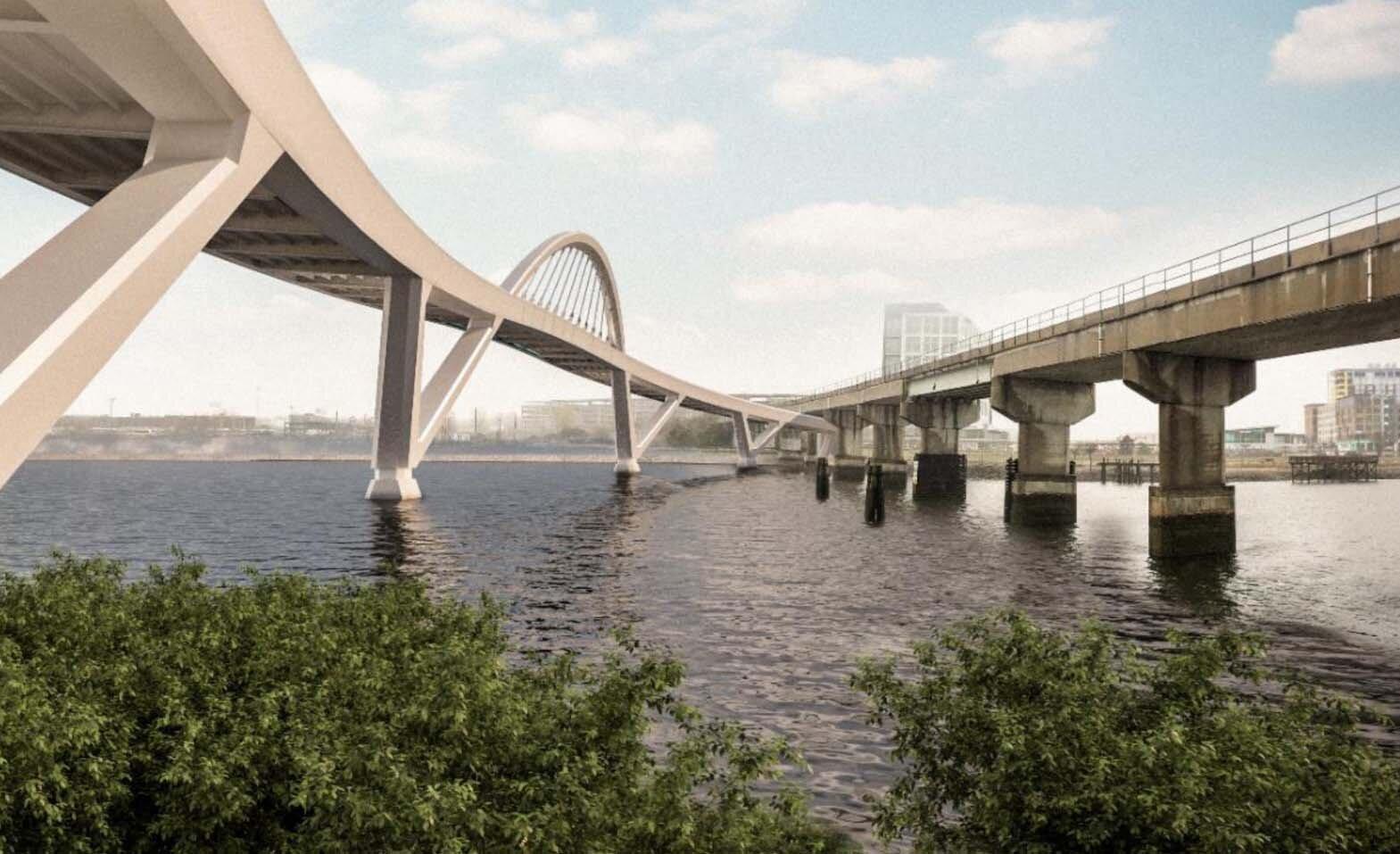 Mystic Pedestrian Bridge (rendering)
