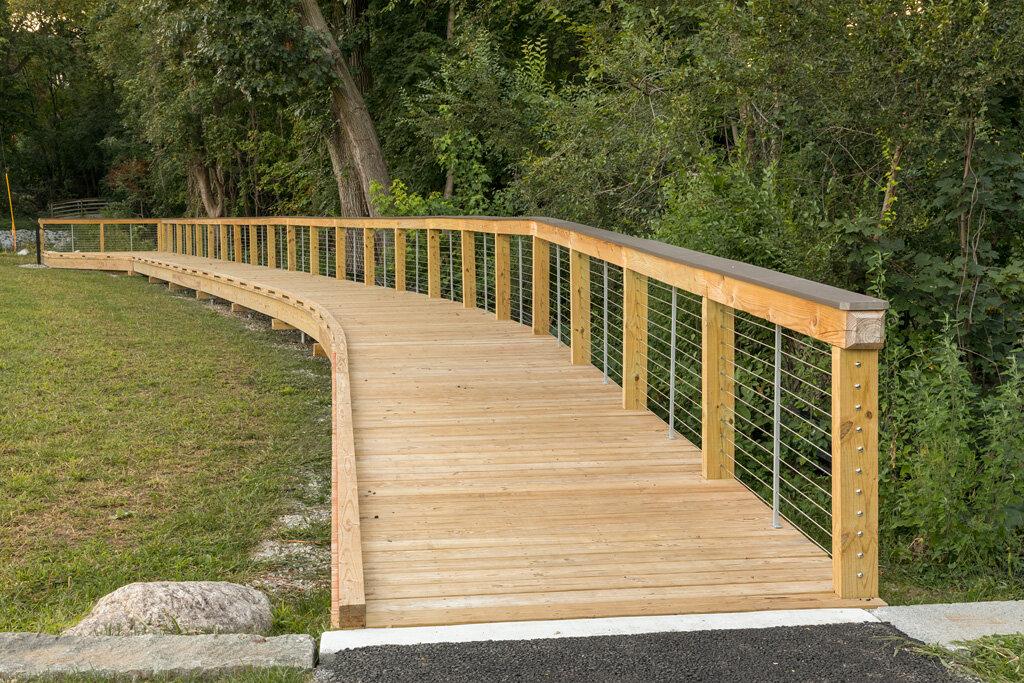 Boardwalk in Wellington Park along Mill Brook
