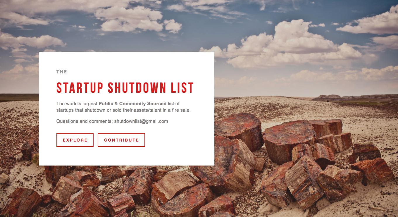 Shutdown Landing Page