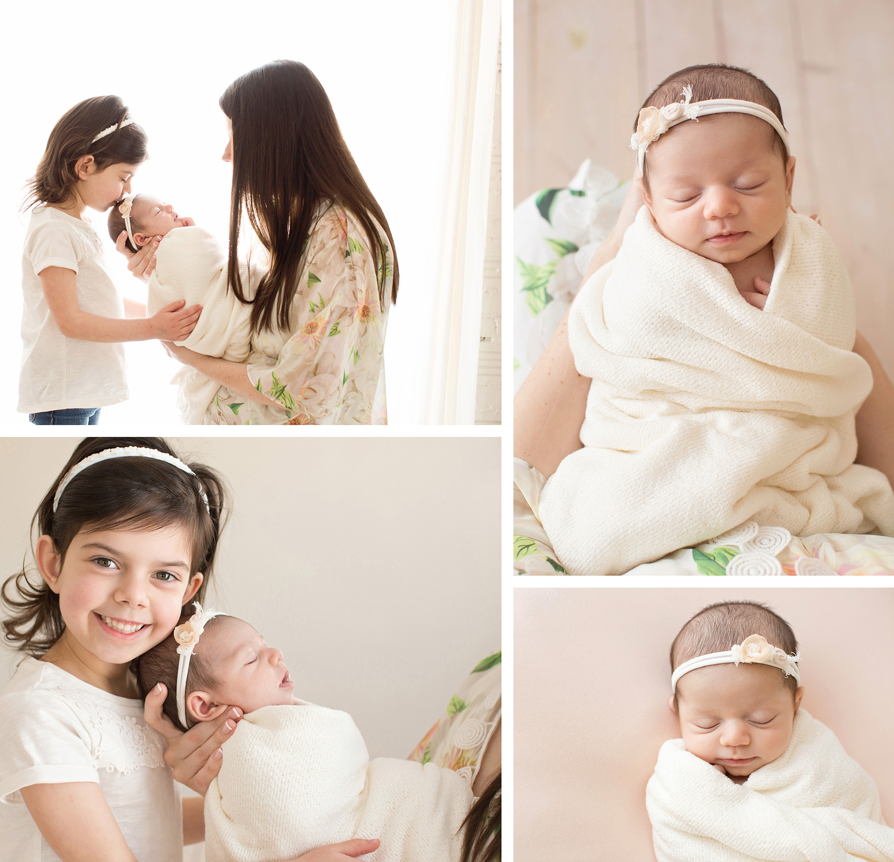 Newborn Photographer Louisville KY | Julie Brock Photography | Newborn Photo with Big Sister for Photo Album.jpg