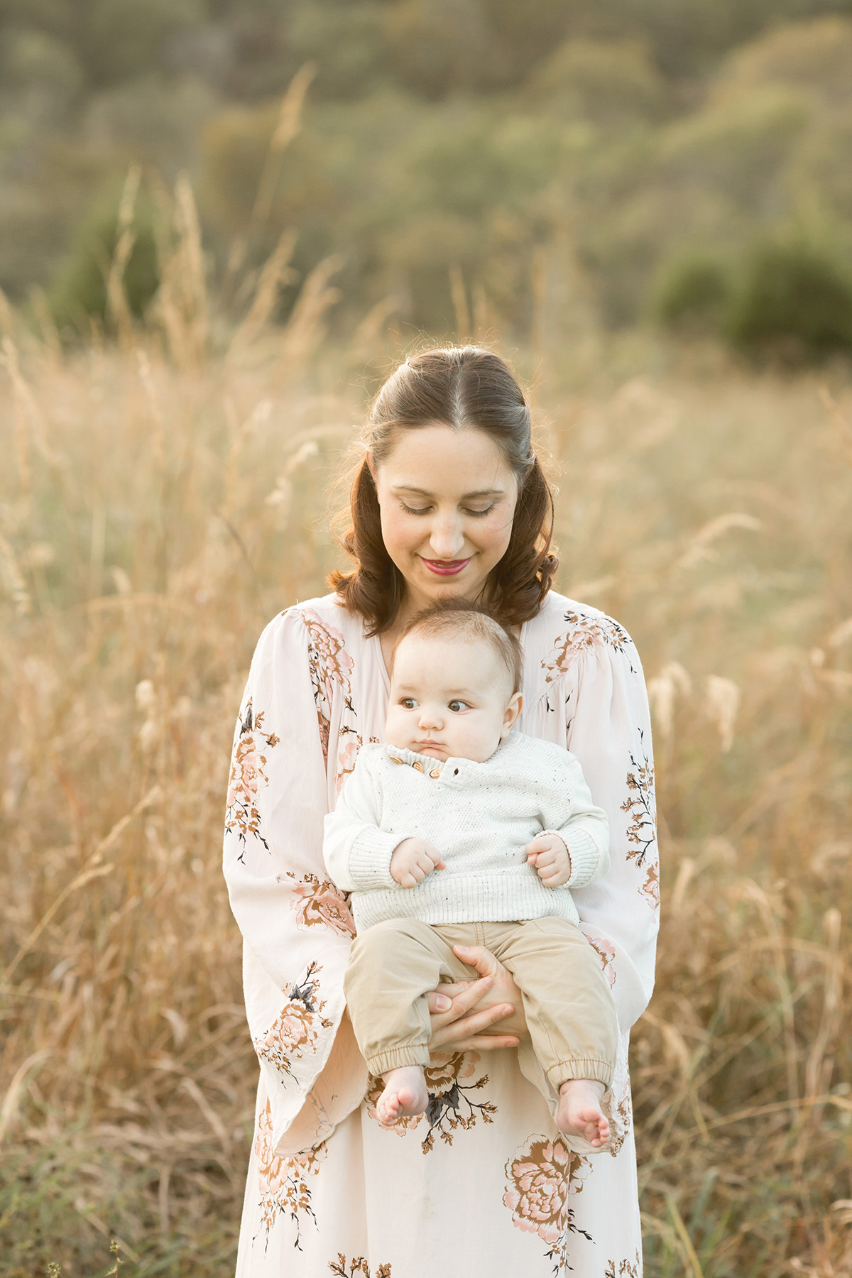 Louisville KY Family Photographer | Julie Brock Photography | Newborn | Maternity | Outdoor Family Photo Shoot in a Field with a baby.jpg