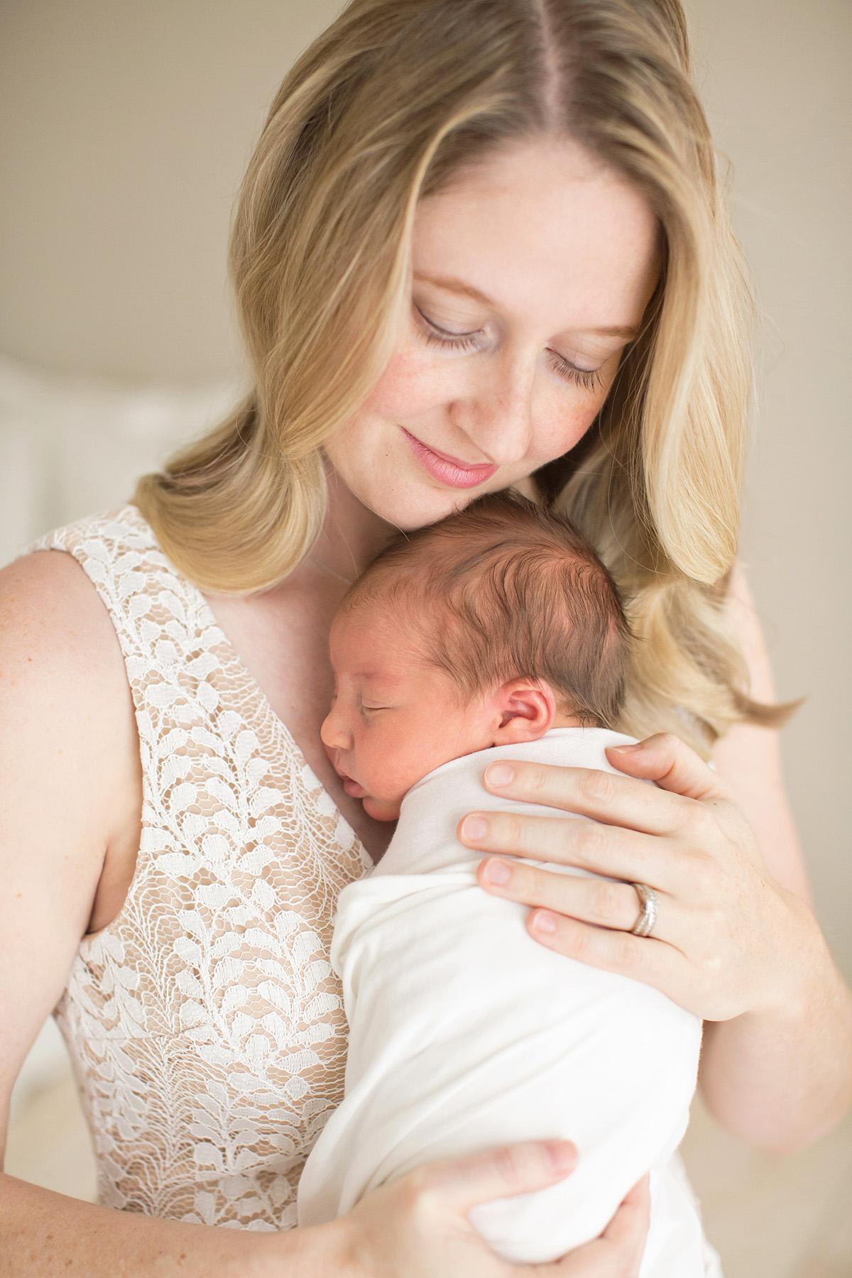 Newborn Photographer Louisville KY   Julie Brock Photography   Perfect Dress for Newborn Photo Session   Mom holding baby   Maternity Photographer   Family Photographer Louisville.jpg
