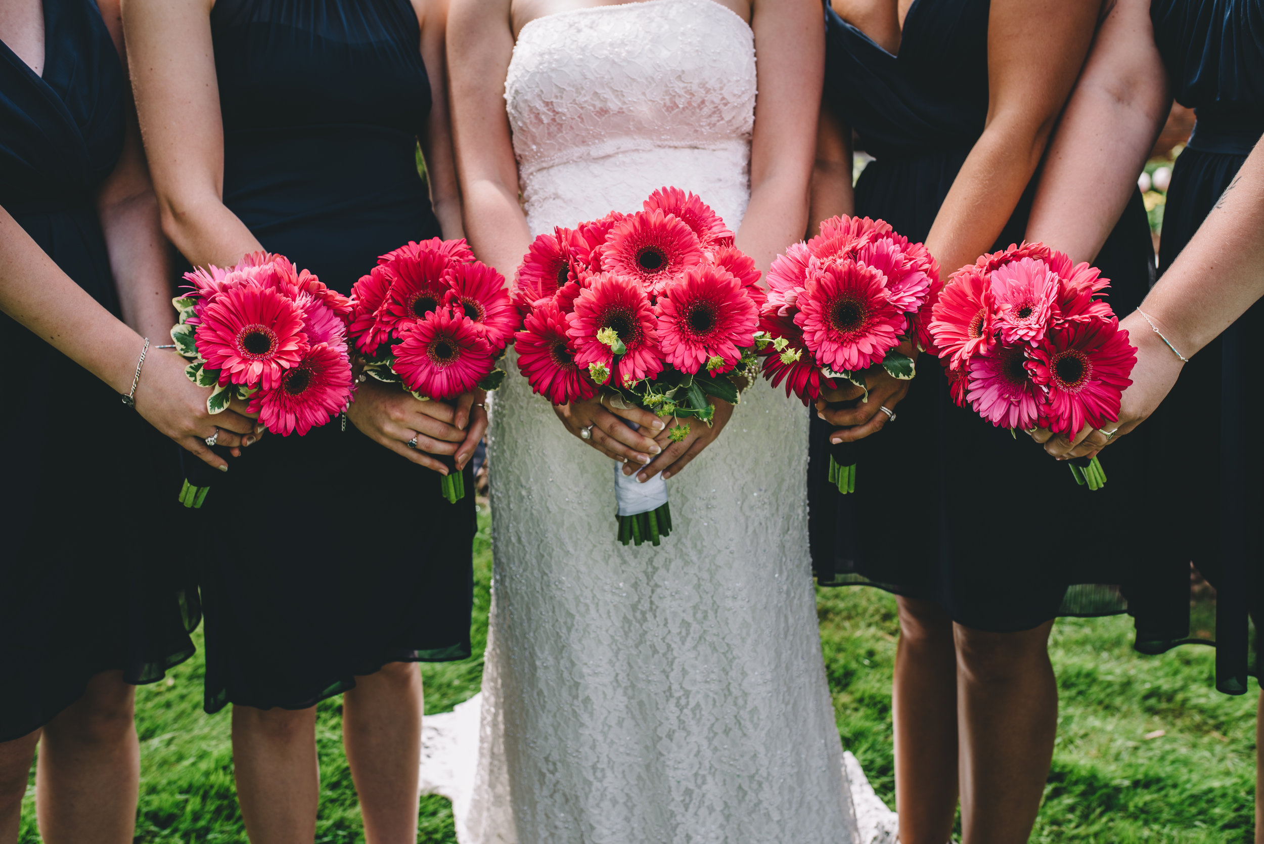 Bridesmaid's boquets Mocha Tree Studios Ottawa Wedding and Engagement Photographer and Videographer Dark Moody Intimate Authentic Modern Romantic Cinematic Best Candid ALEX + BRIAN: THE MOUNT, PETERBOROUGH, ON