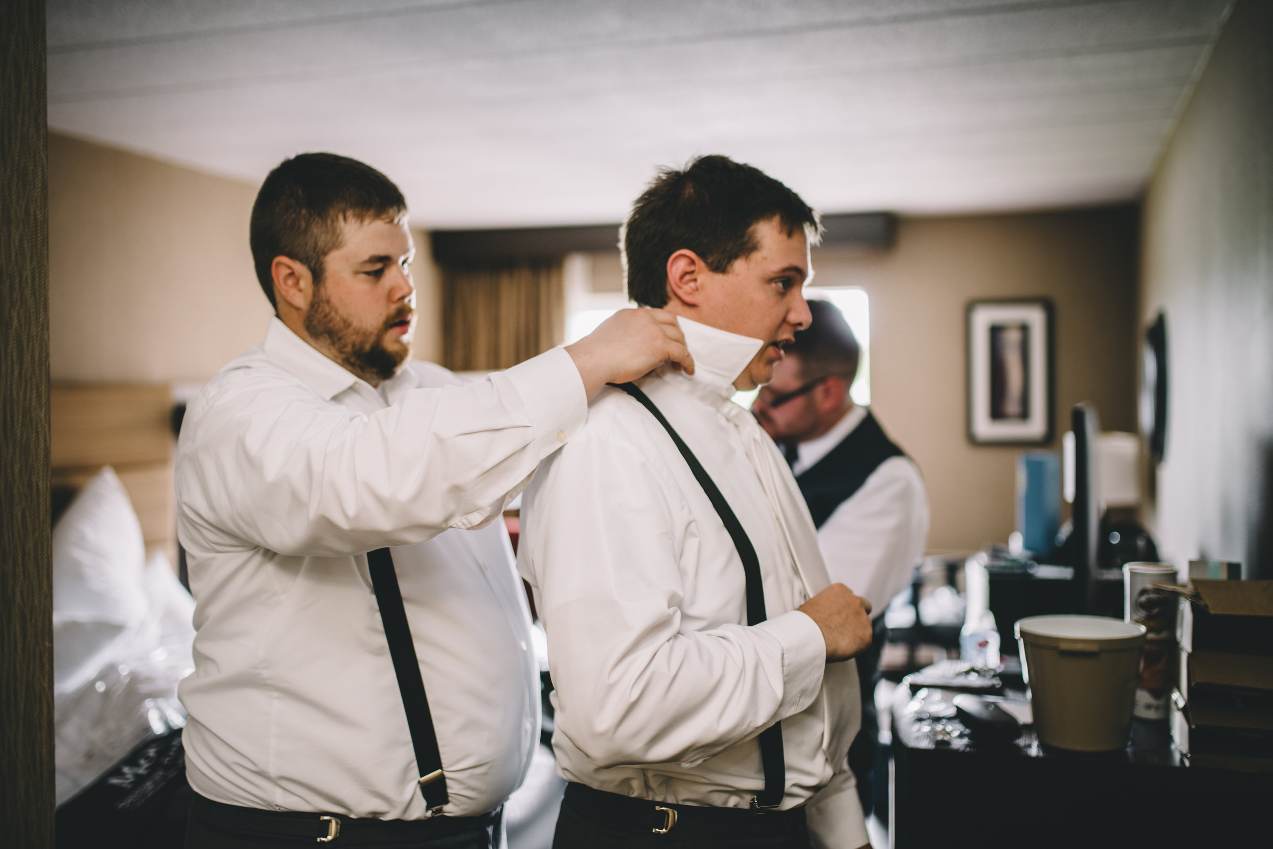 Groom Getting Ready 4 Mocha Tree Studios Ottawa Wedding and Engagement Photographer and Videographer Dark Moody Intimate Authentic Modern Romantic Cinematic Best Candid ALEX + BRIAN: THE MOUNT, PETERBOROUGH, ON