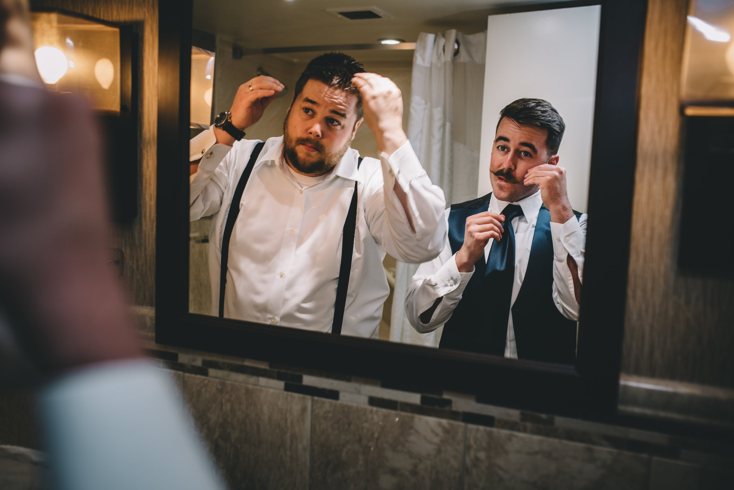 Groom Getting Ready 5 Mocha Tree Studios Ottawa Wedding and Engagement Photographer and Videographer Dark Moody Intimate Authentic Modern Romantic Cinematic Best Candid ALEX + BRIAN: THE MOUNT, PETERBOROUGH, ON