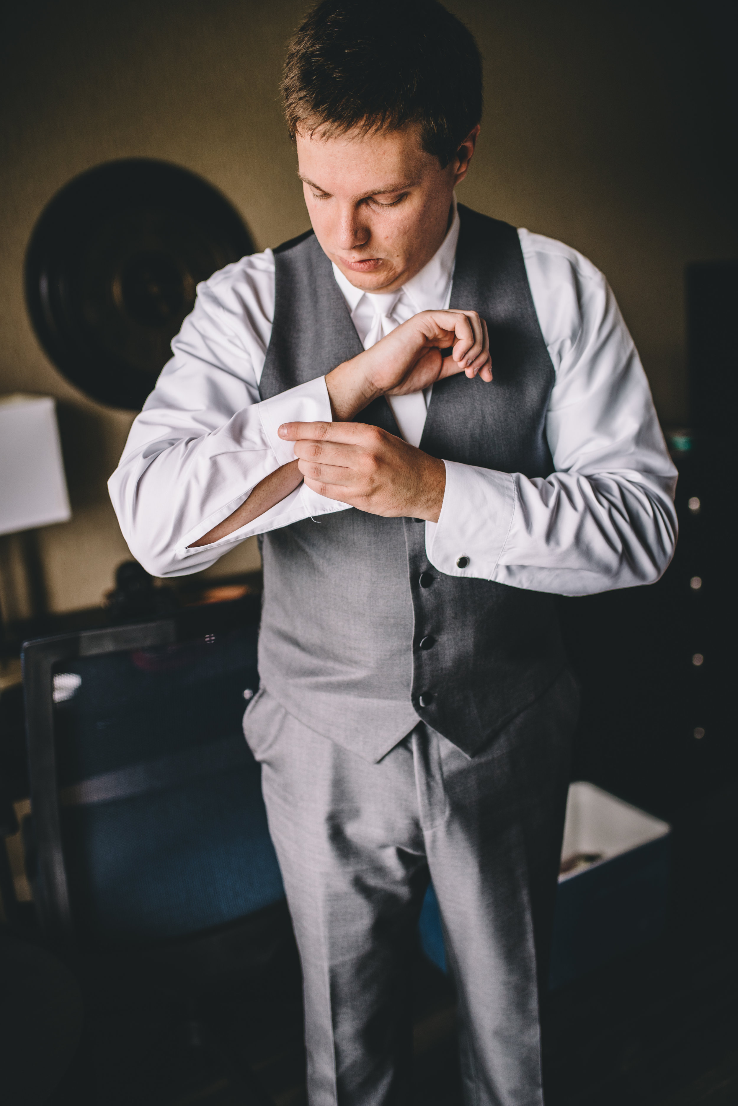 Groom Getting Ready 6 Mocha Tree Studios Ottawa Wedding and Engagement Photographer and Videographer Dark Moody Intimate Authentic Modern Romantic Cinematic Best Candid ALEX + BRIAN: THE MOUNT, PETERBOROUGH, ON