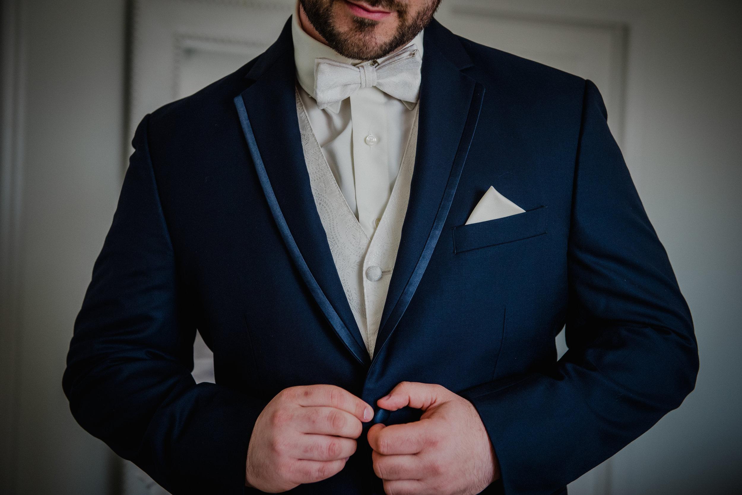 Le Belvedere, Wakefield Wedding - Groom Details 2