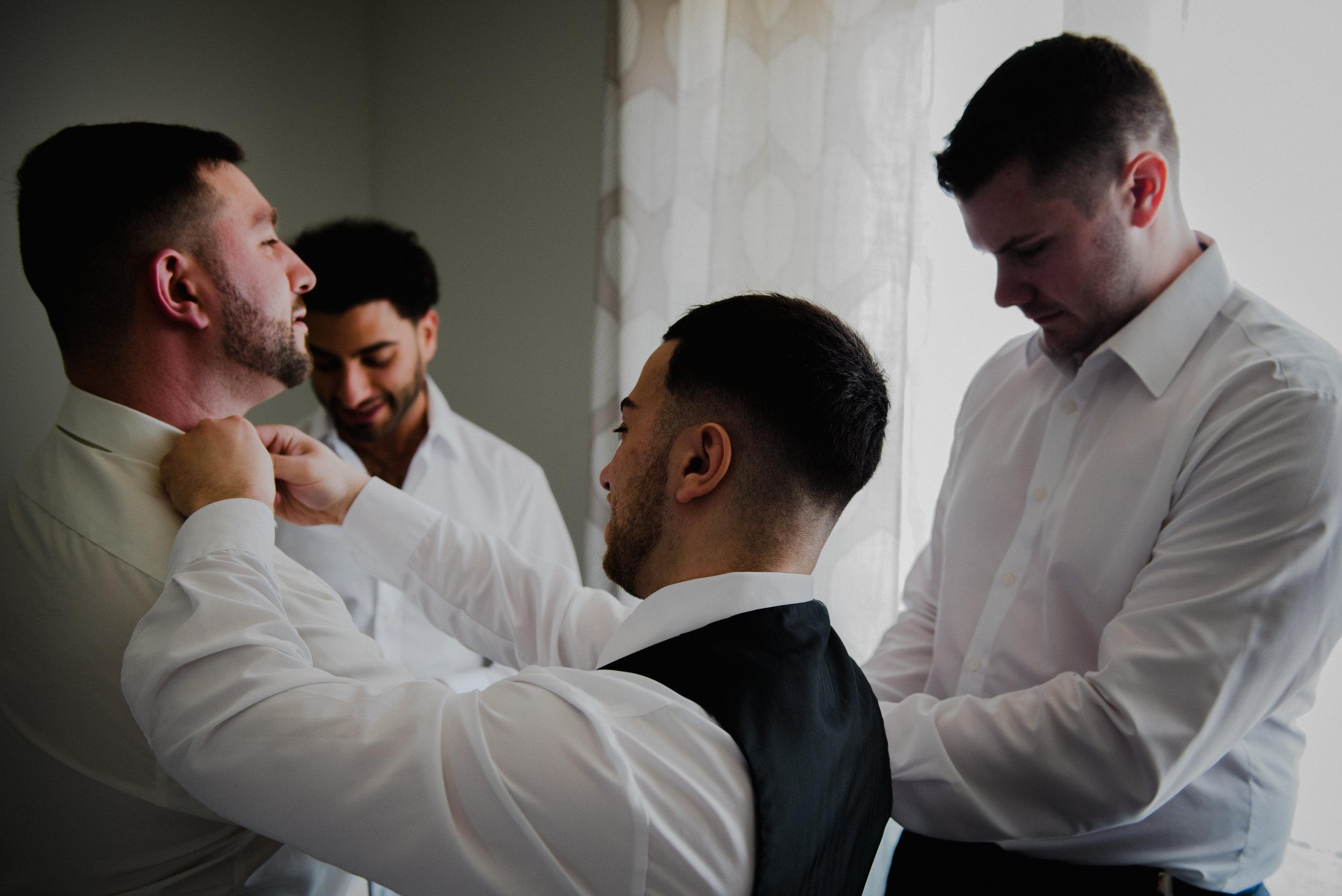 Le Belvedere, Wakefield Wedding - Groom Getting Ready 1